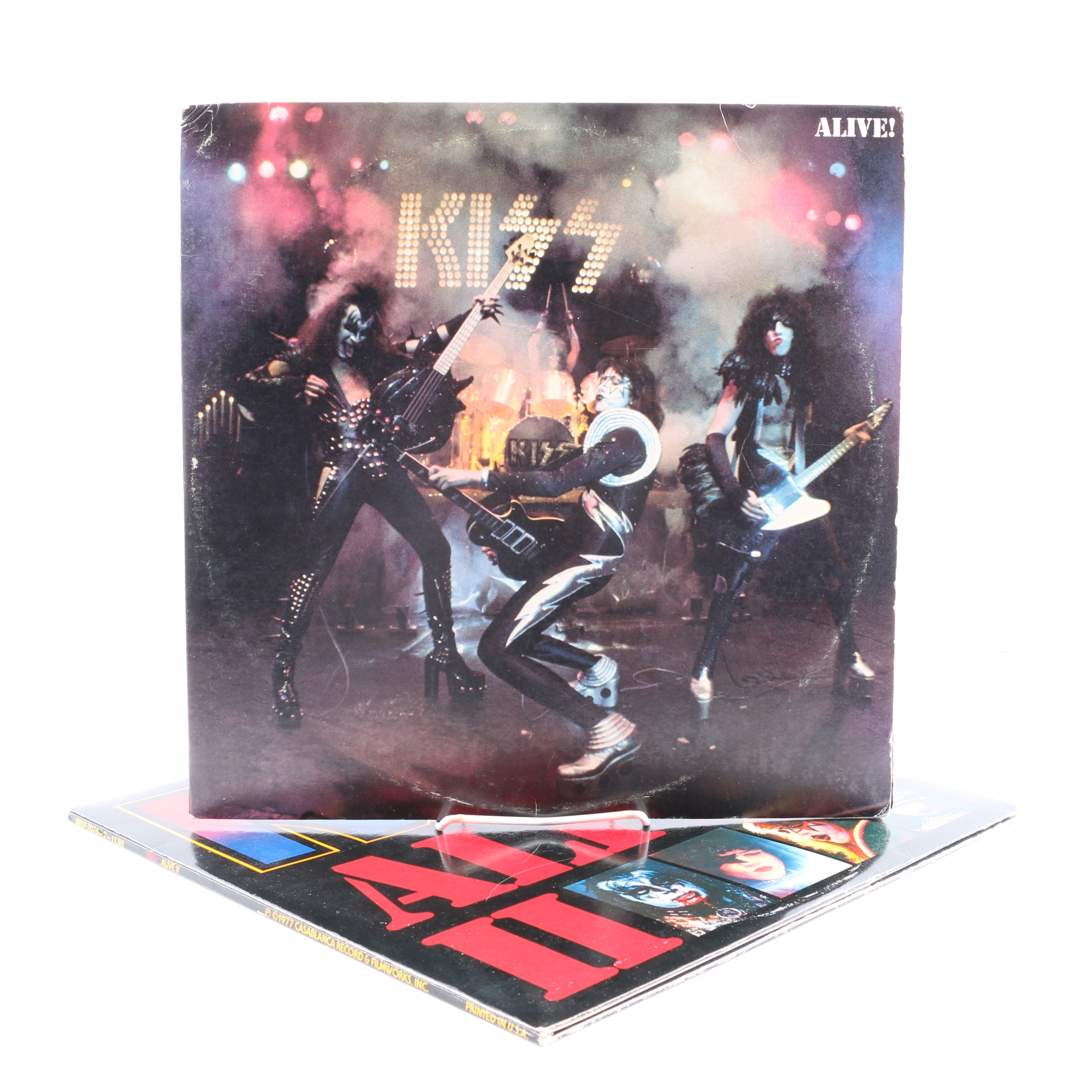 "KISS Records Including ""Alive!"" and ""Alive II"" With Inserts"