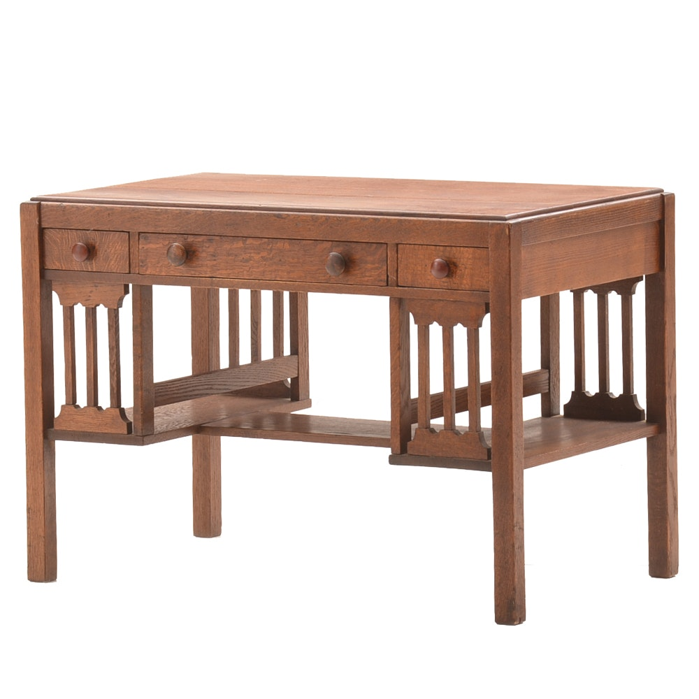 Mission Style Oak Desk
