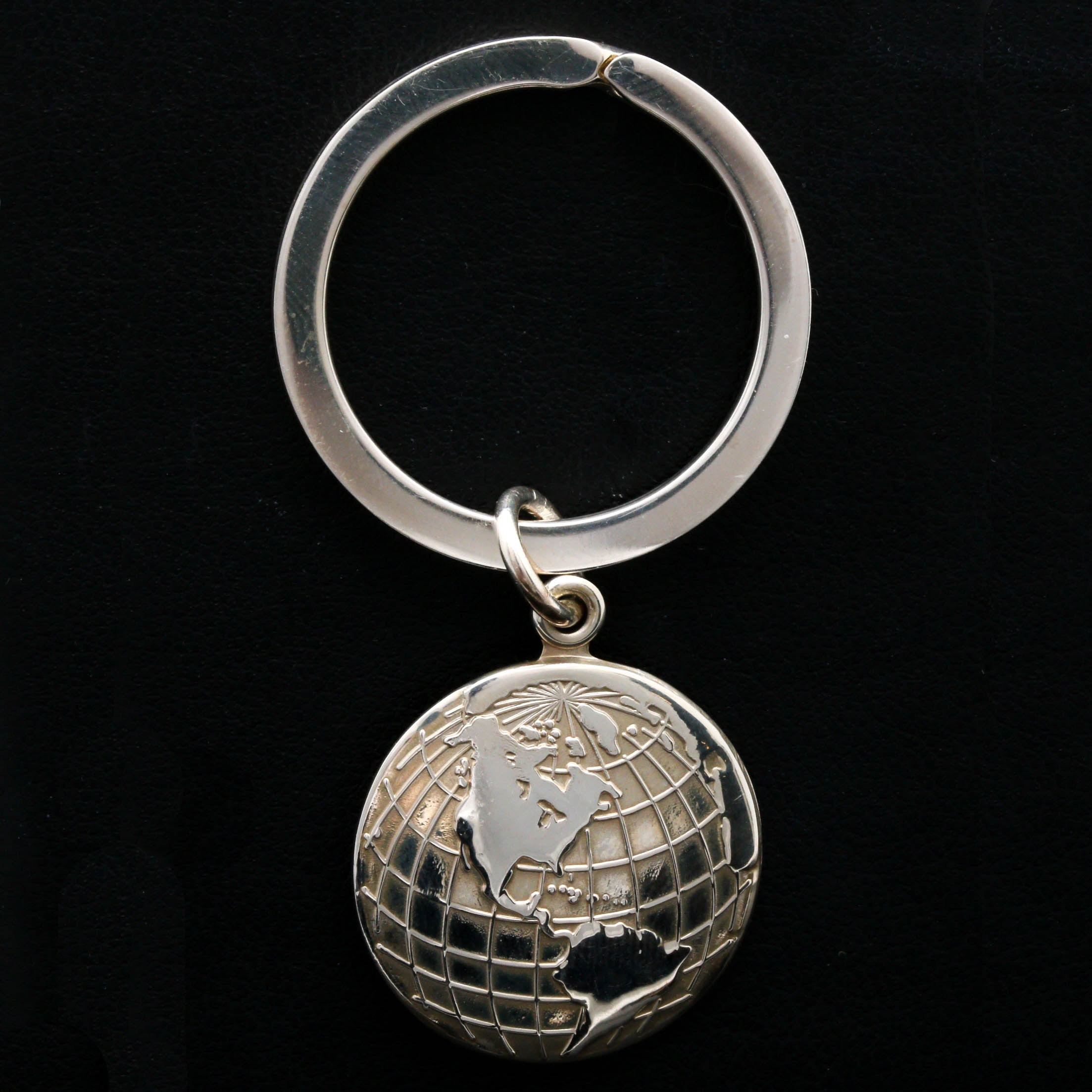 Tiffany & Co. Sterling Silver Globe Keyring