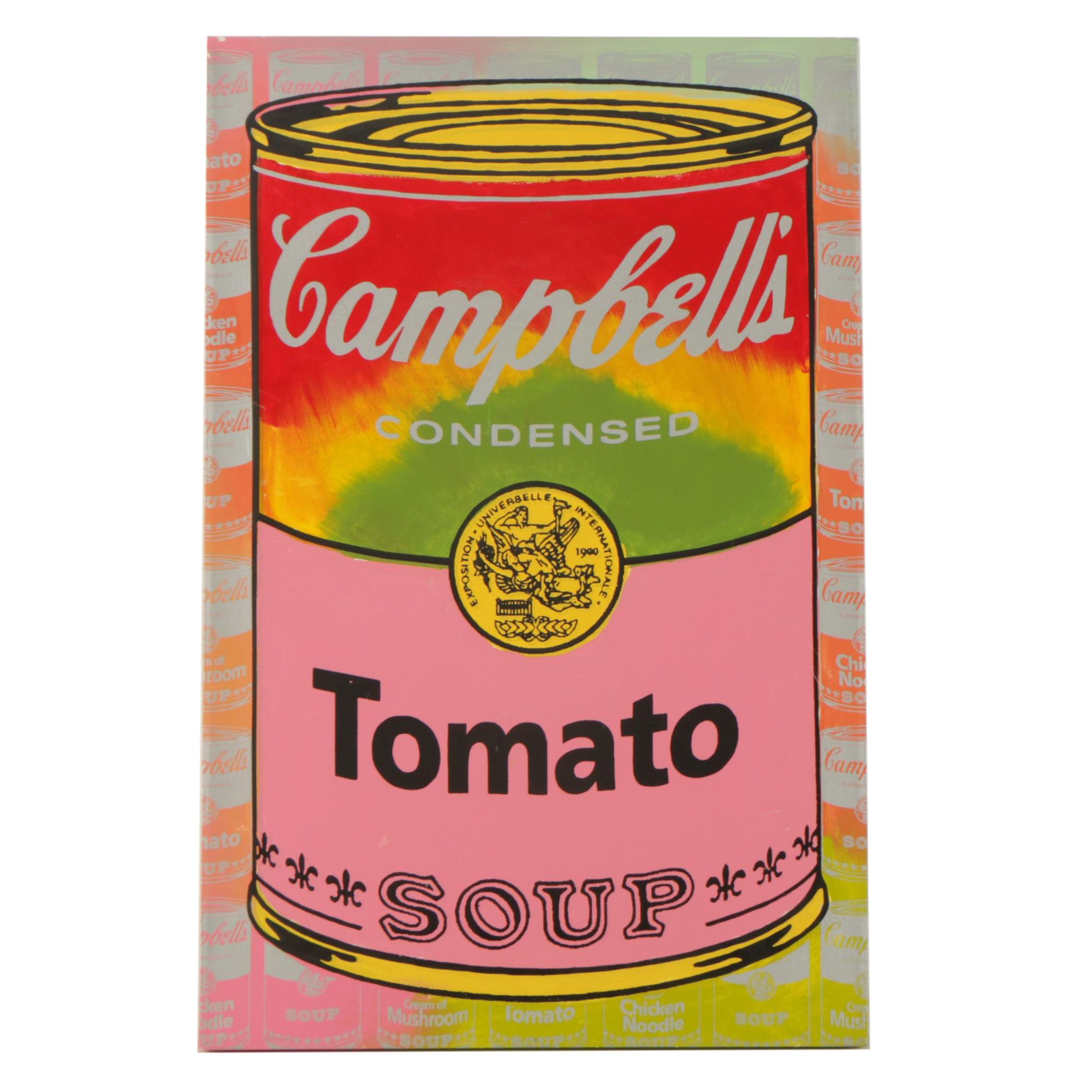 """Steve Kaufman Serigraph on Canvas """"Campbell Soup Can Series I"""""""