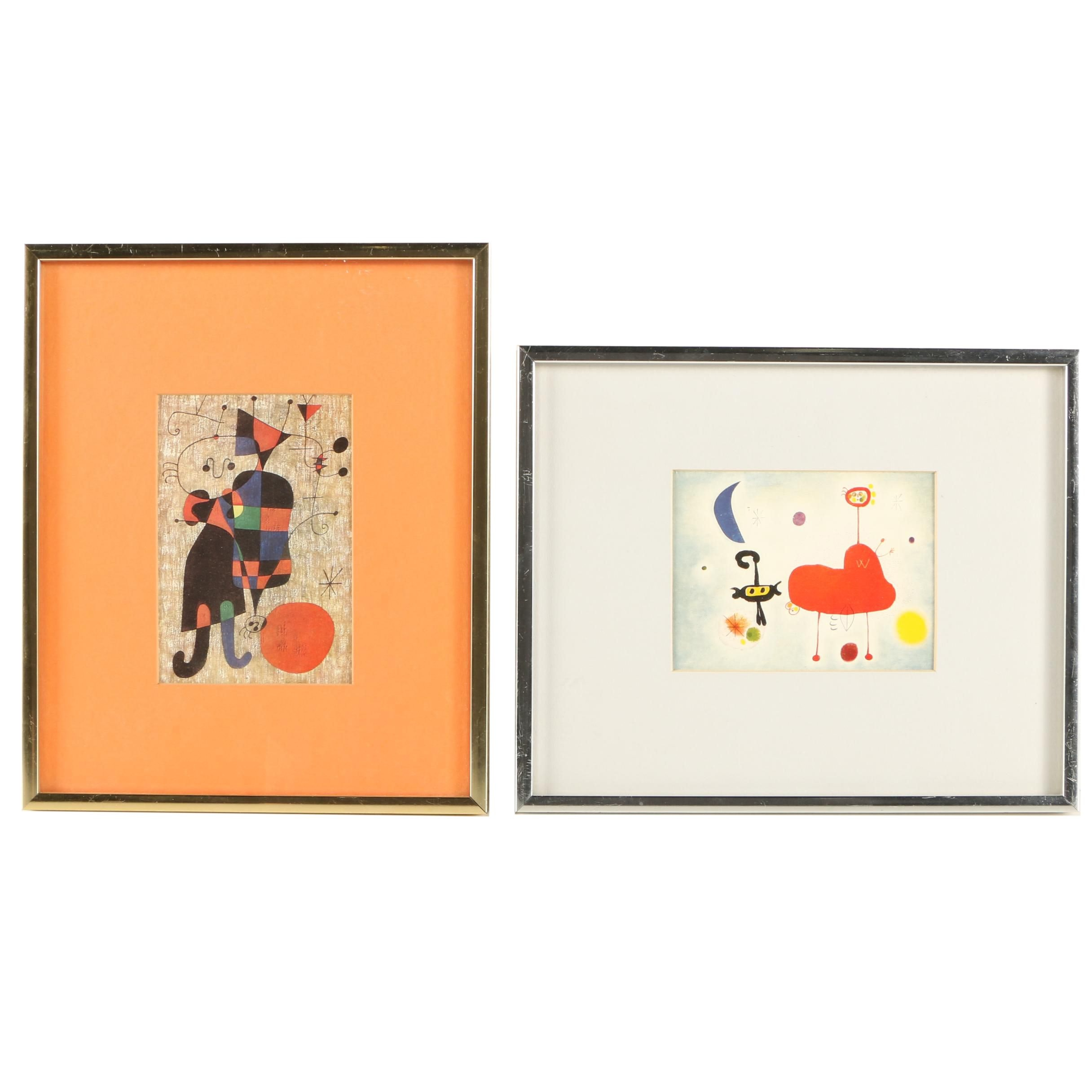"Offset Lithographs After Joan Miró Featuring ""La Luna"""