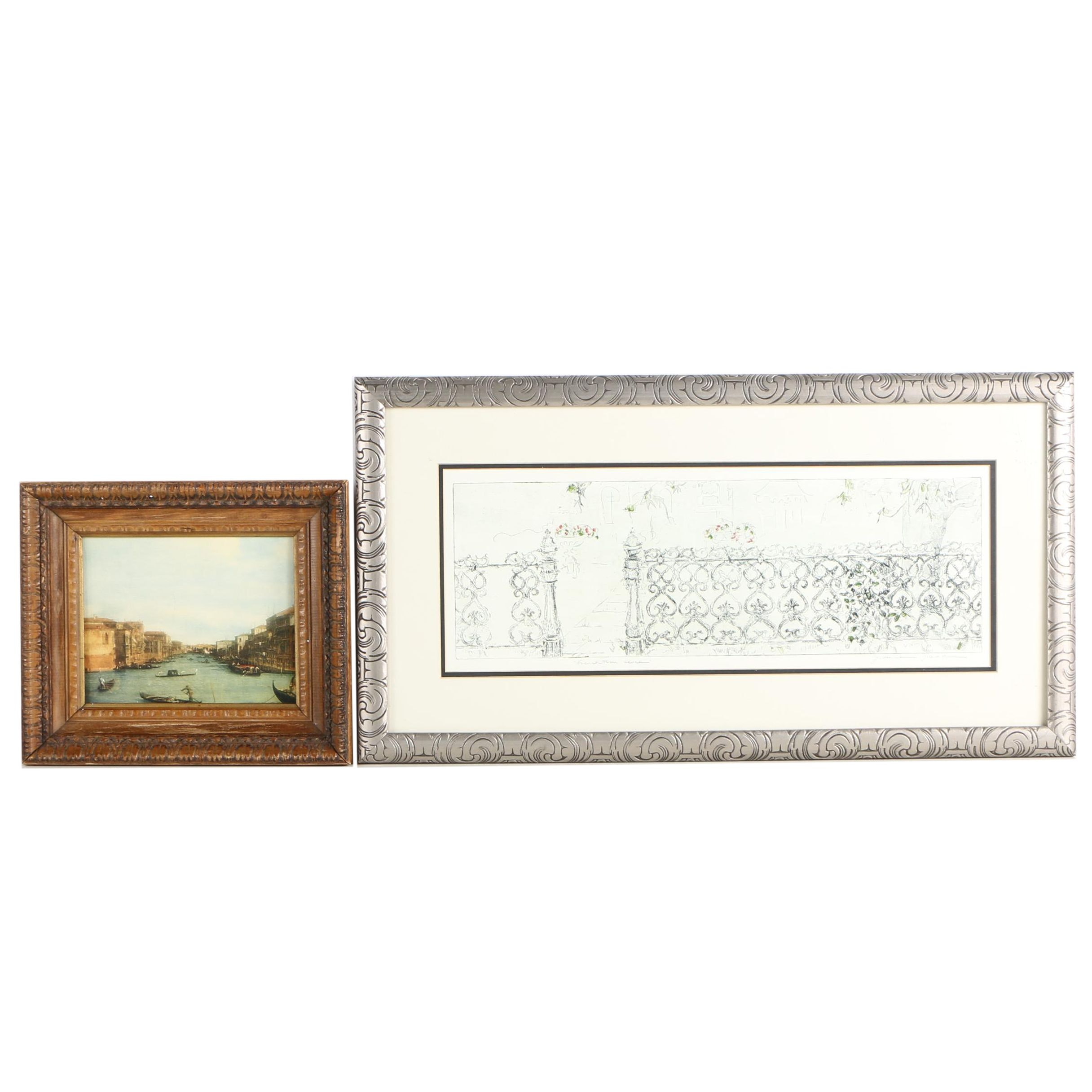 """Reproduction Prints of Venice and """"Frenchtown Fence"""""""
