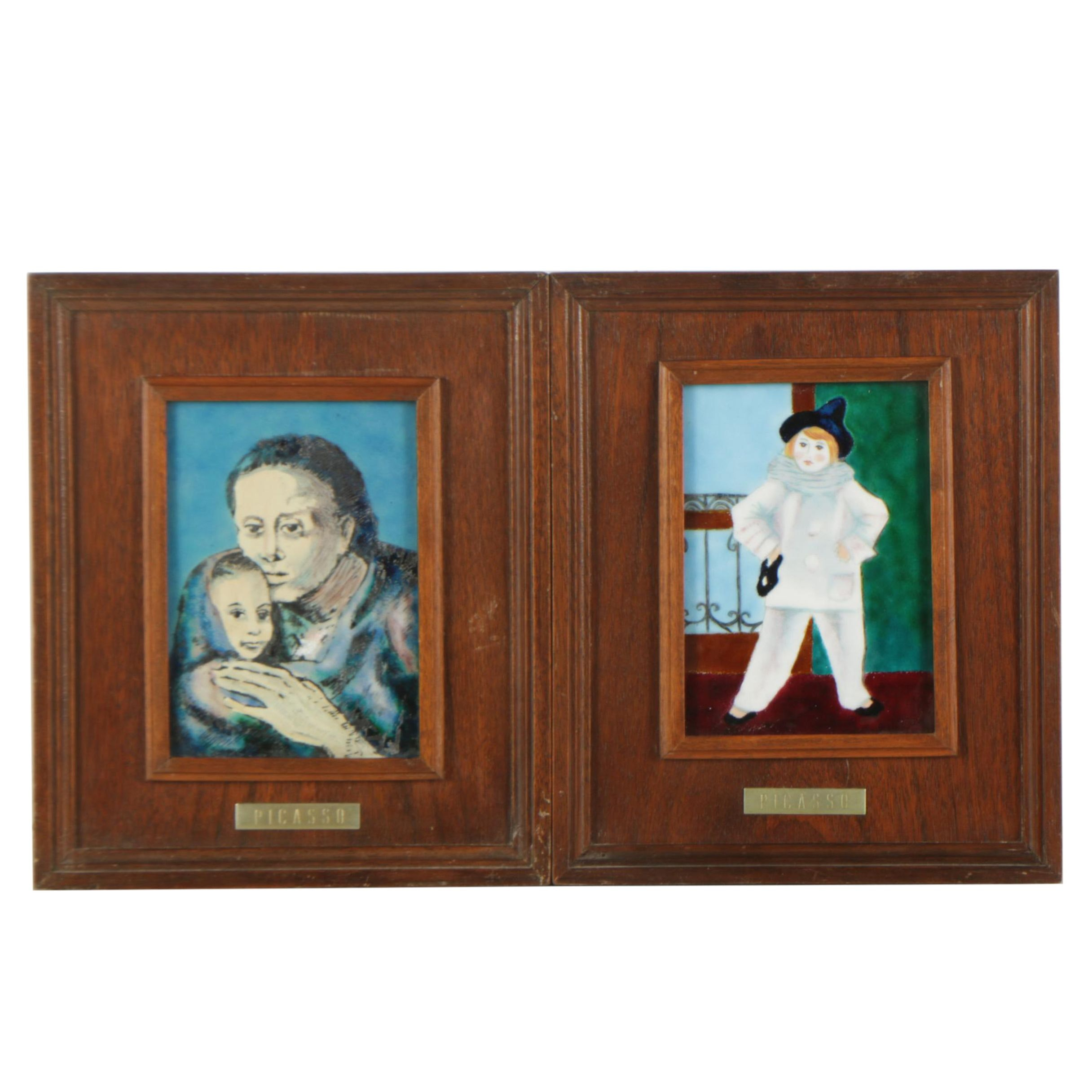 Enamel Paintings on Copper After Pablo Picasso