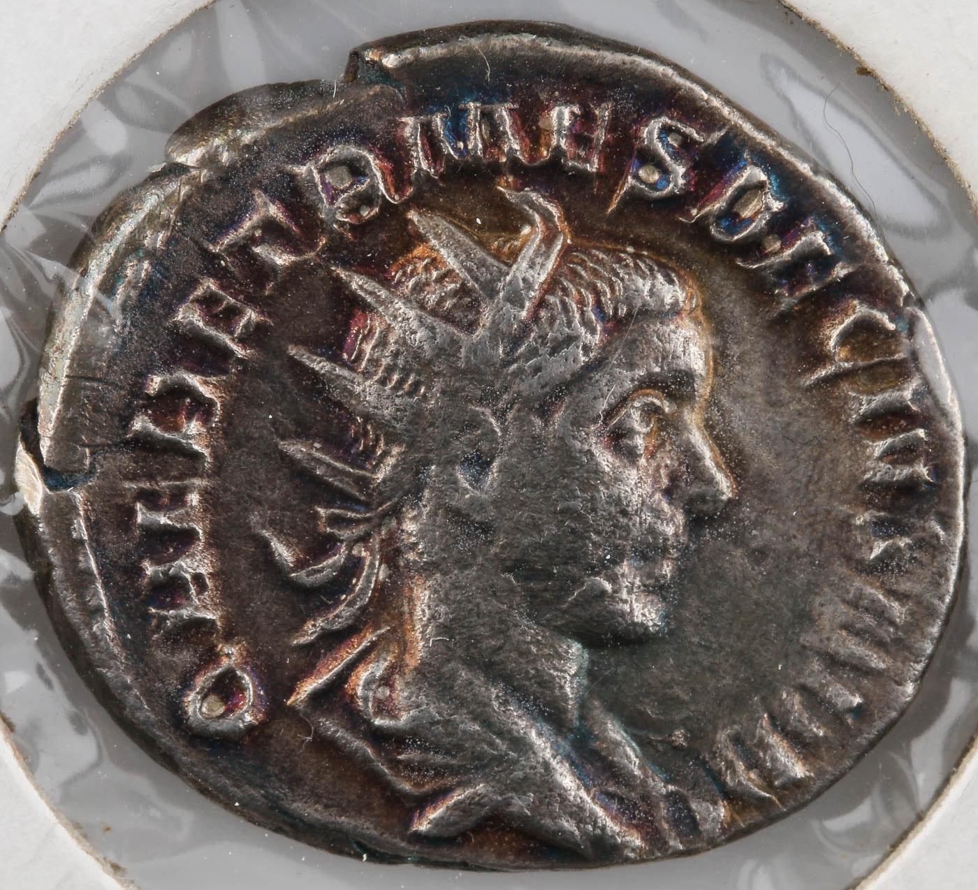 AR Antonninianus Coin: Herennius Etruscus 250 A.D.