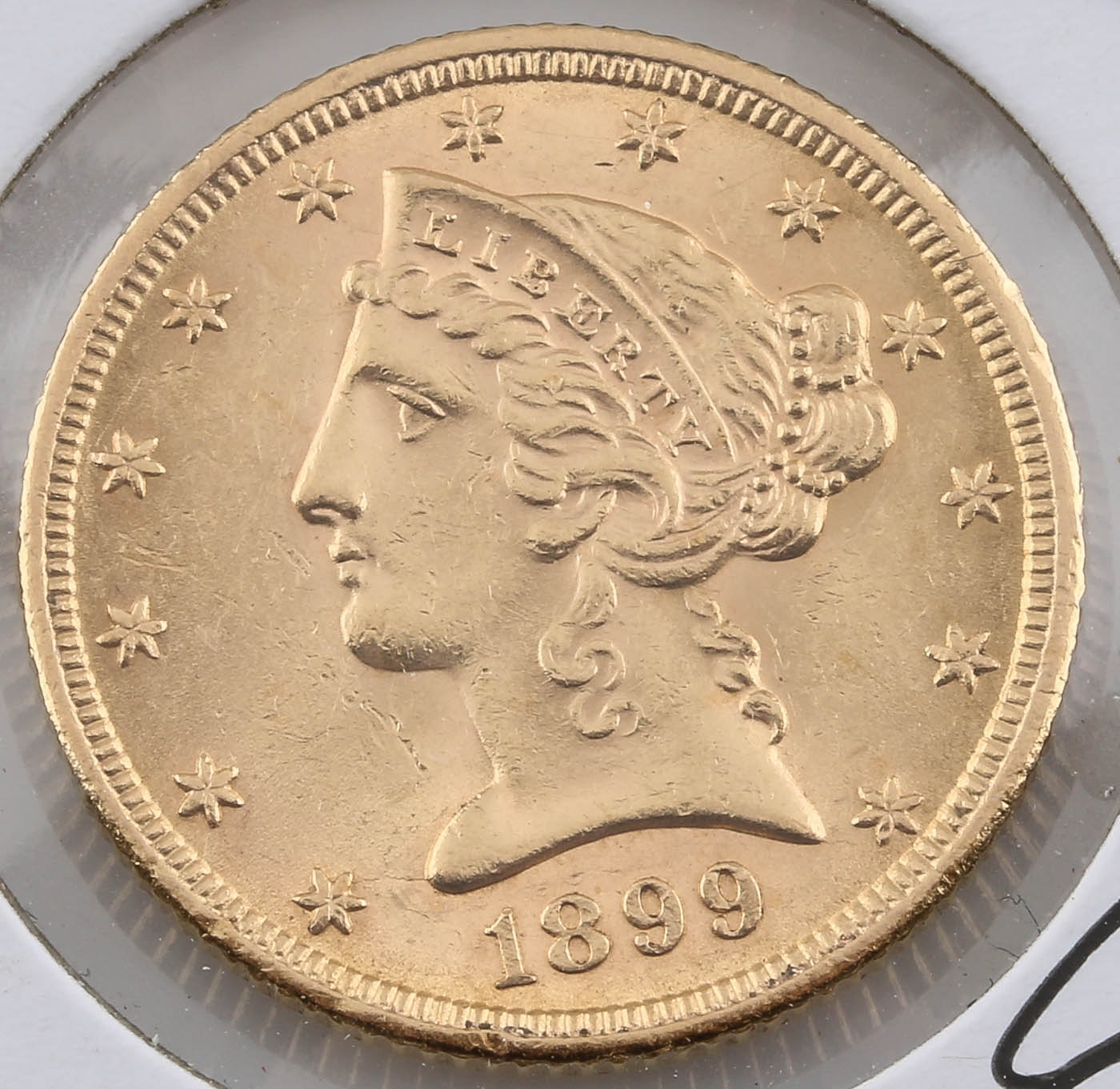 1899 Liberty Head $5 Gold Coin