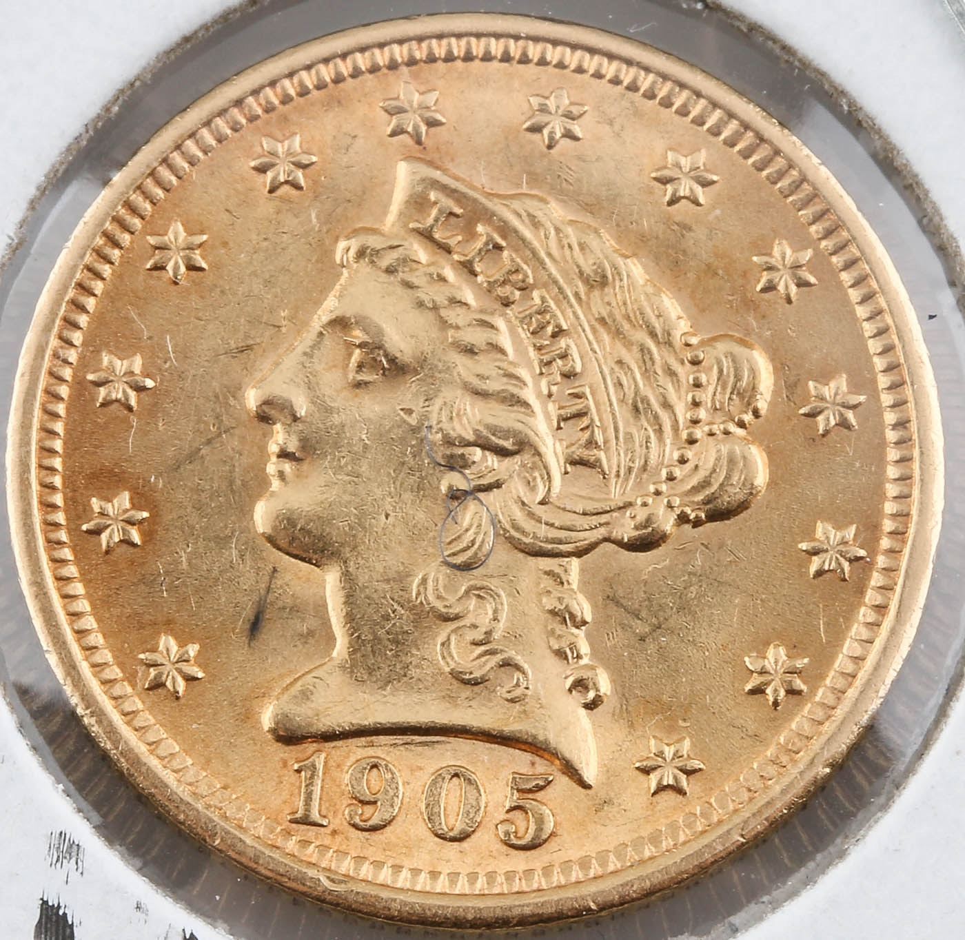 1905 Liberty Head $2 1/2 Gold Coin