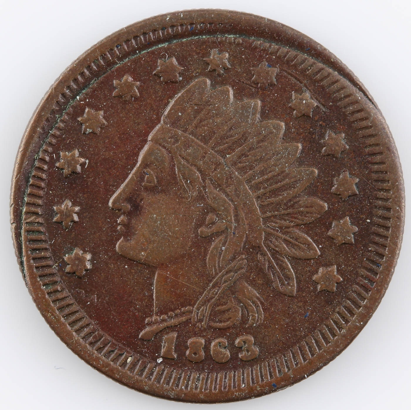 "1863 Civil War Store Token ""CITY FLOUR MILLS DETROIT"" on Reverse"