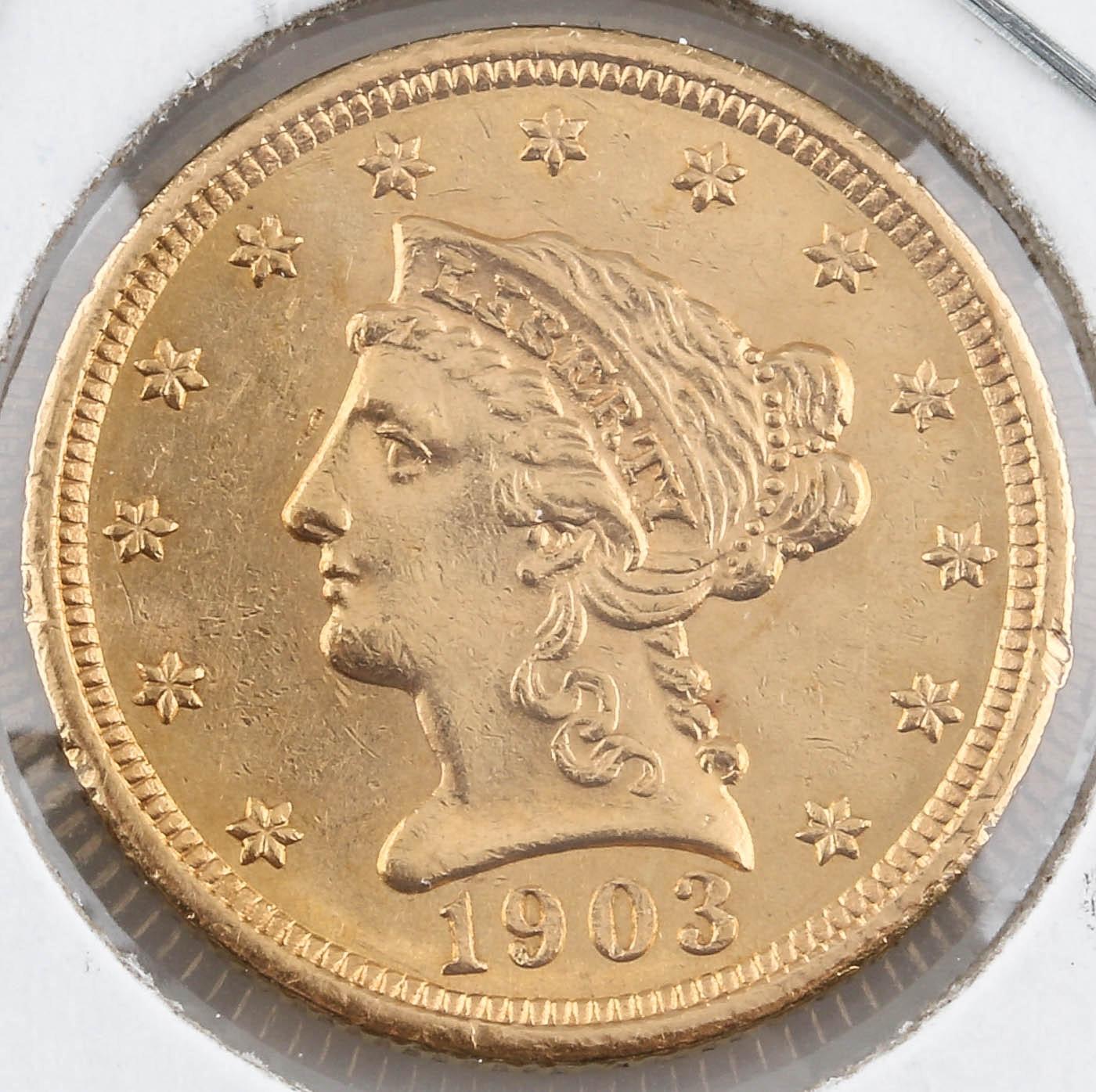 1903 Liberty Head $2 1/2 Gold Coin