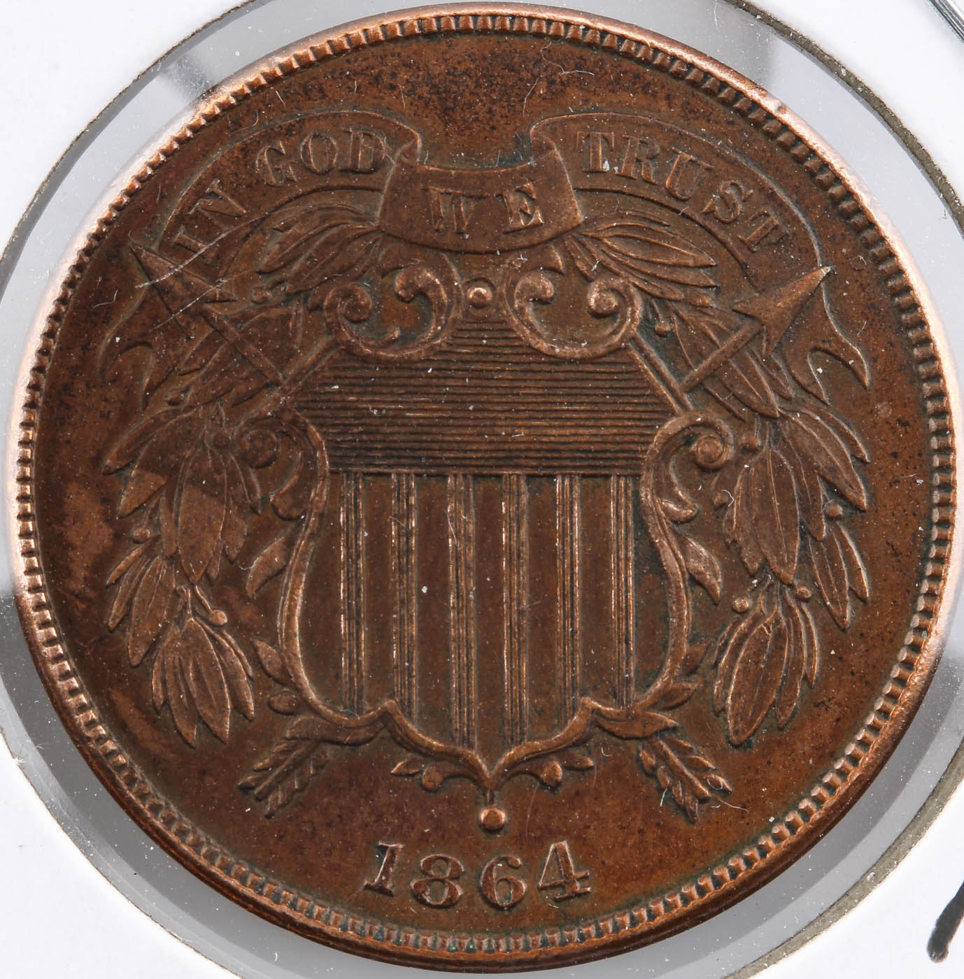 1864 Two Cent Coin