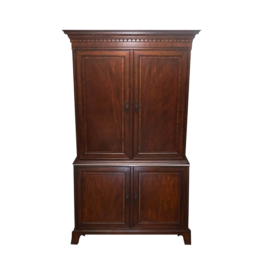 Mahogany-Finished Entertainment Cabinet by Drexel Heritage