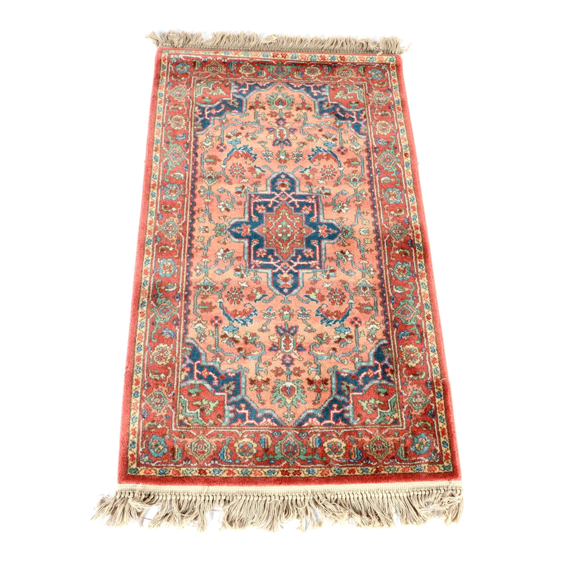 "Power-Loomed Karastan ""Medallion Serapi"" Wool Accent Rug"