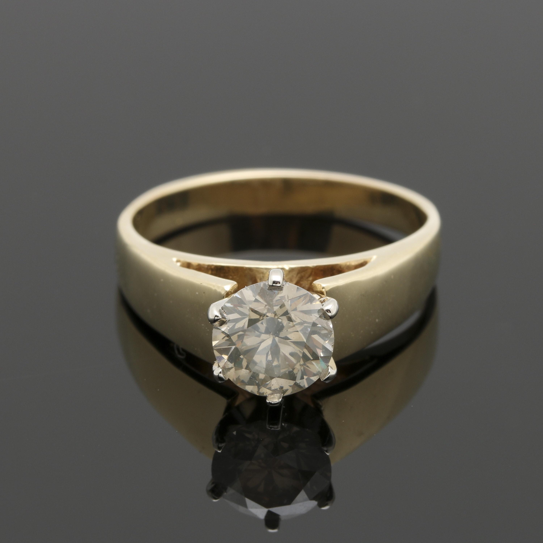 14K Yellow Gold 1.14 CT Diamond Ring