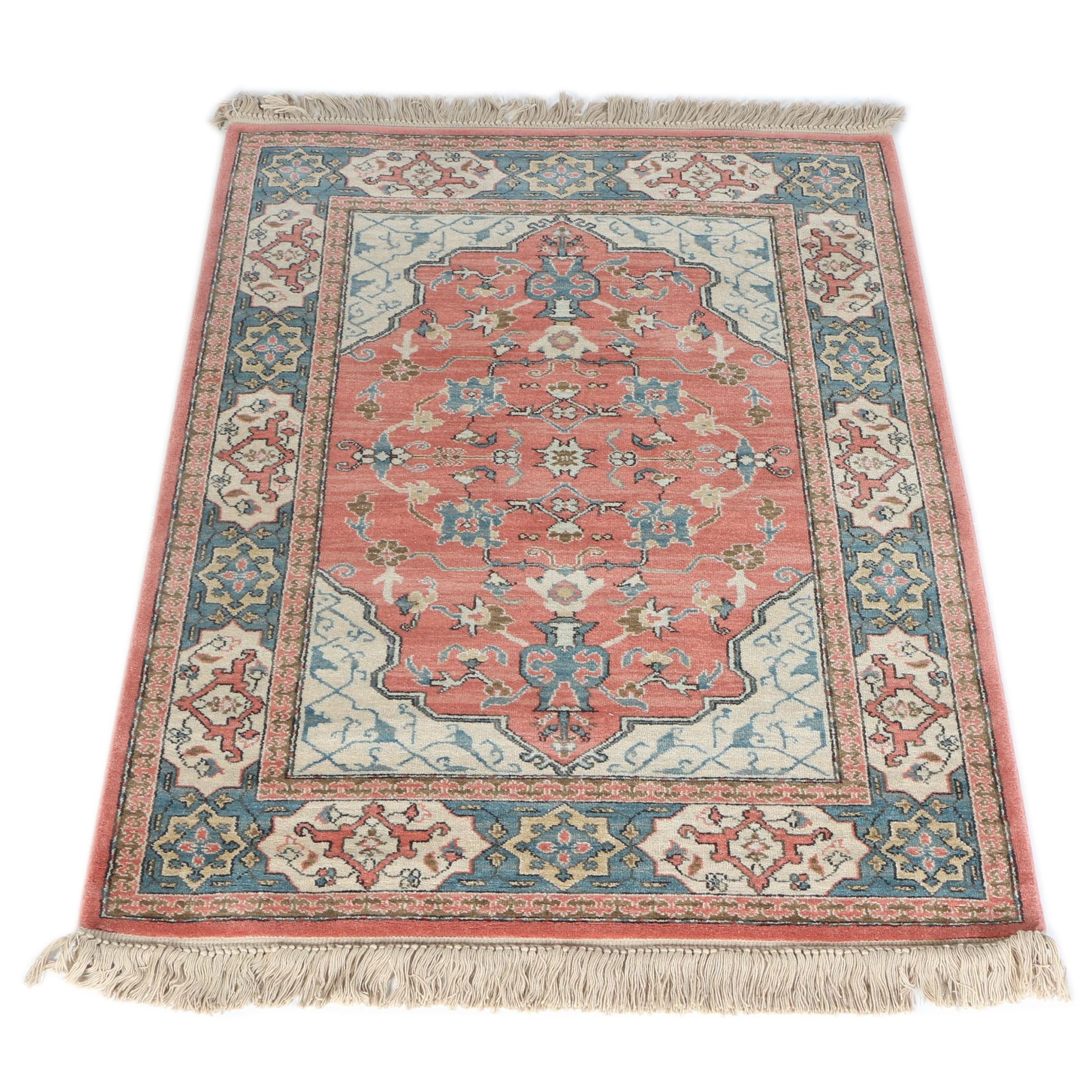"Power-Loomed Karastan ""Bergama Design"" Wool Area Rug"
