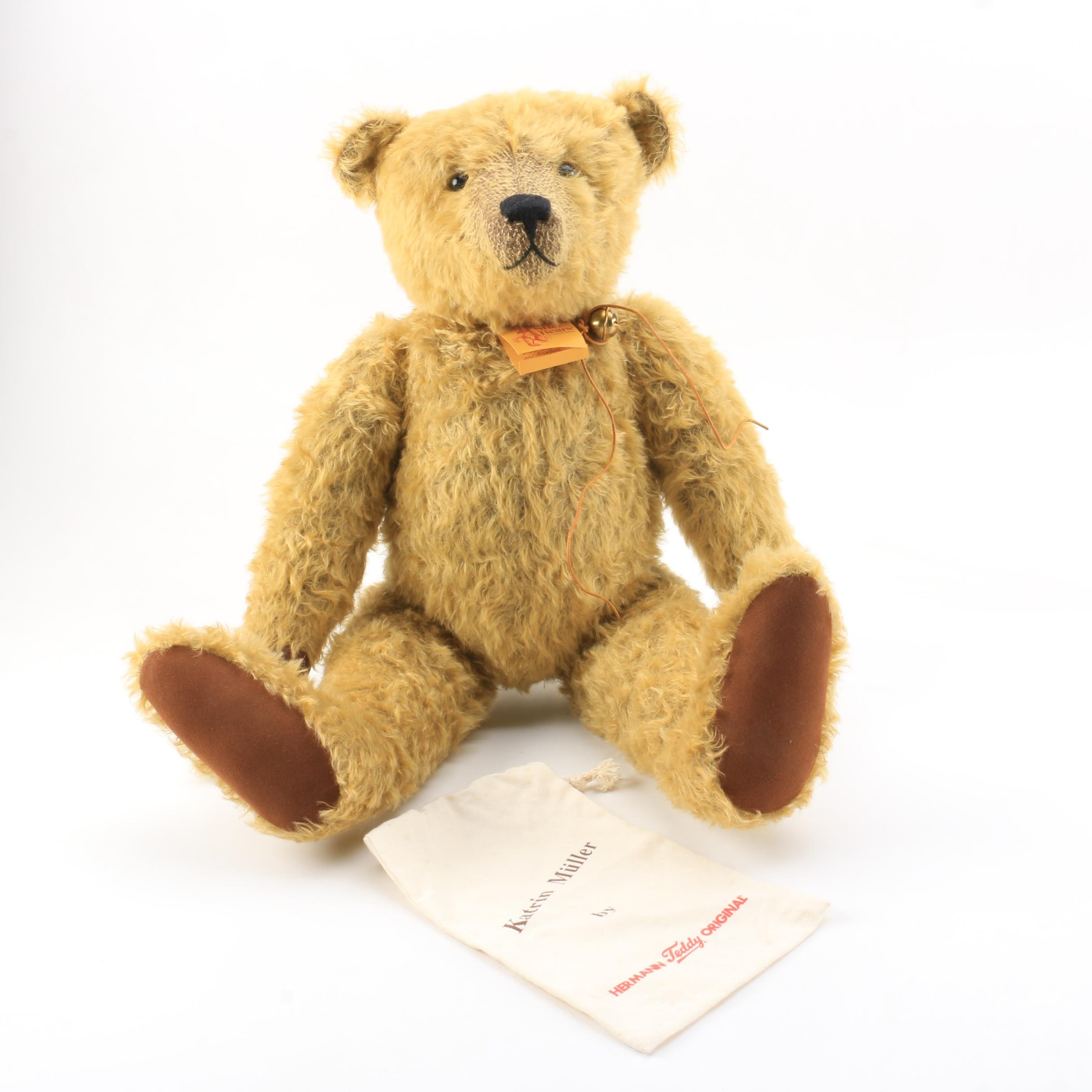 "Stier Limited Edition ""Quentin"" Teddy Bear by Kathleen Wallace"