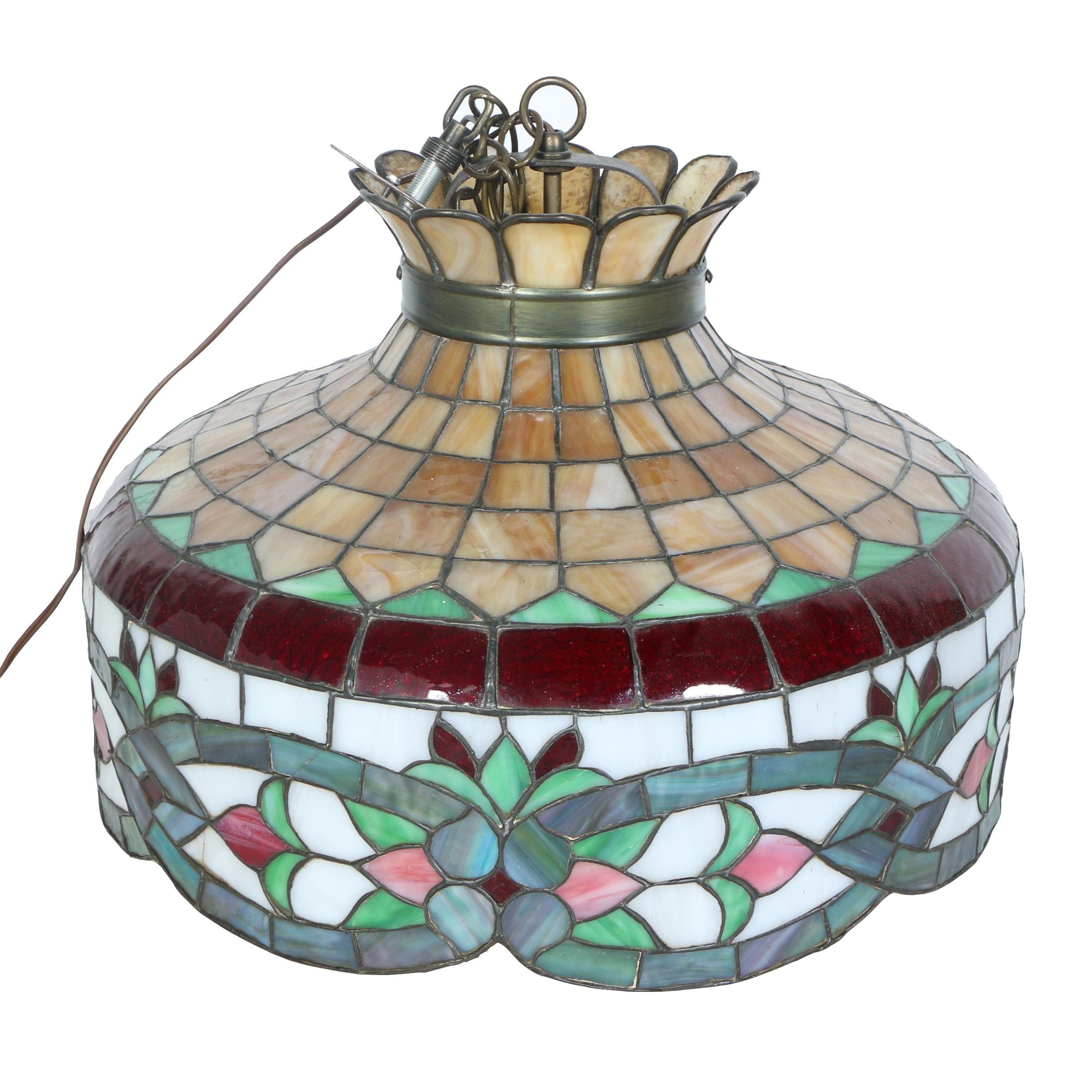 Hanging Stained Glass Chandelier