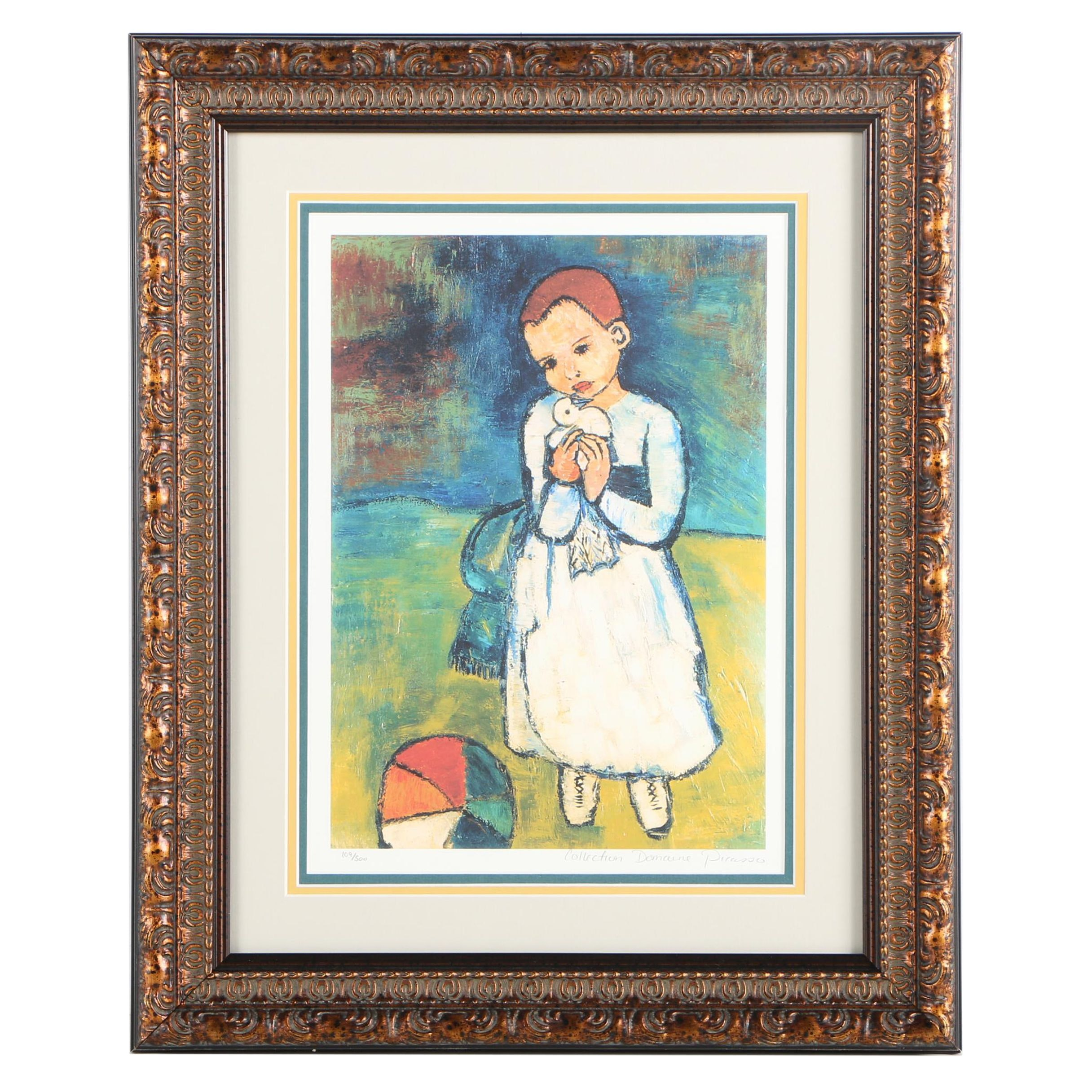 """Limited Edition Giclée After Pablo Picasso """"Child Holding a Dove"""""""