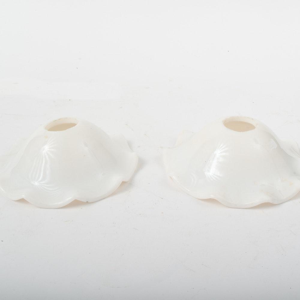 Vintage Milk Glass Smoke Bell Shades
