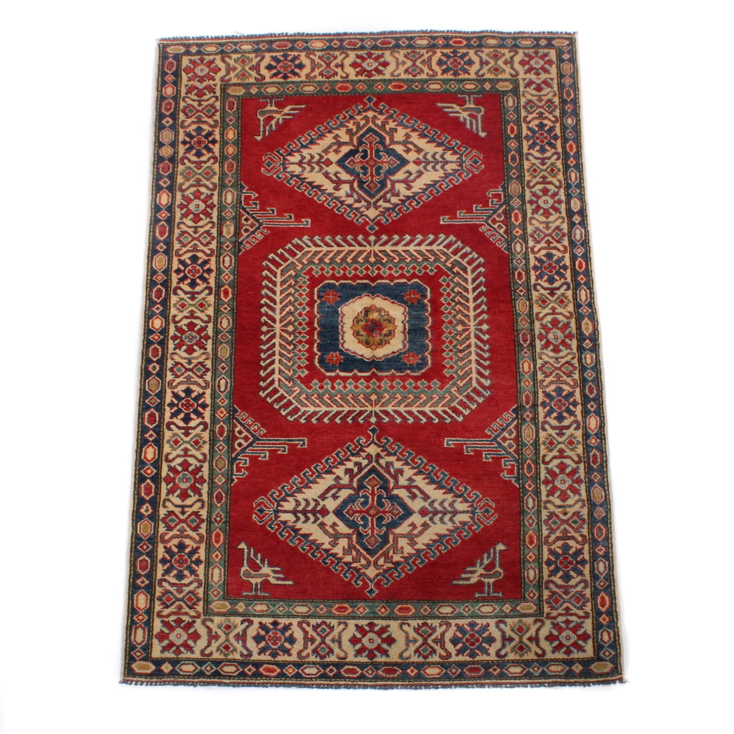 4' x 7' Fine Afghani Caucasian Pictorial Rug