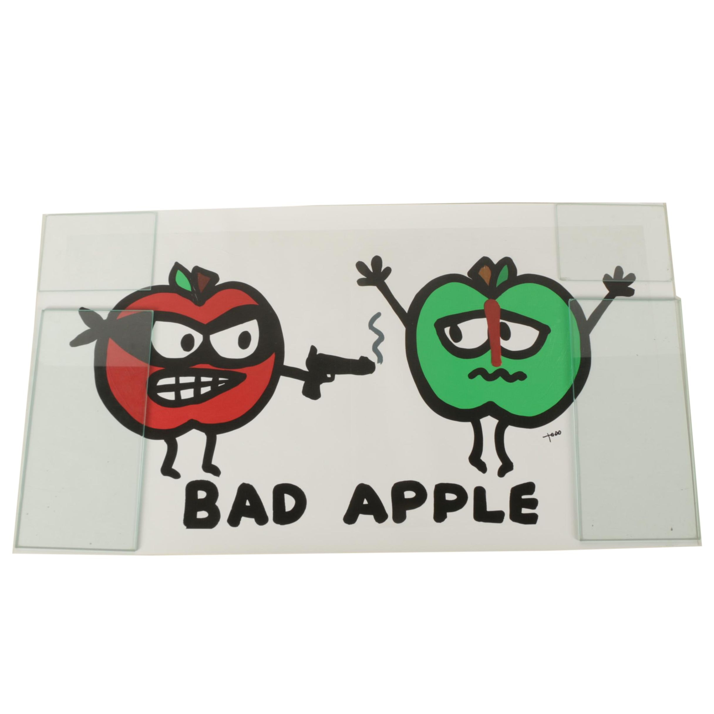 "Giclee Print ""Bad Apple"" after Todd Goldman"