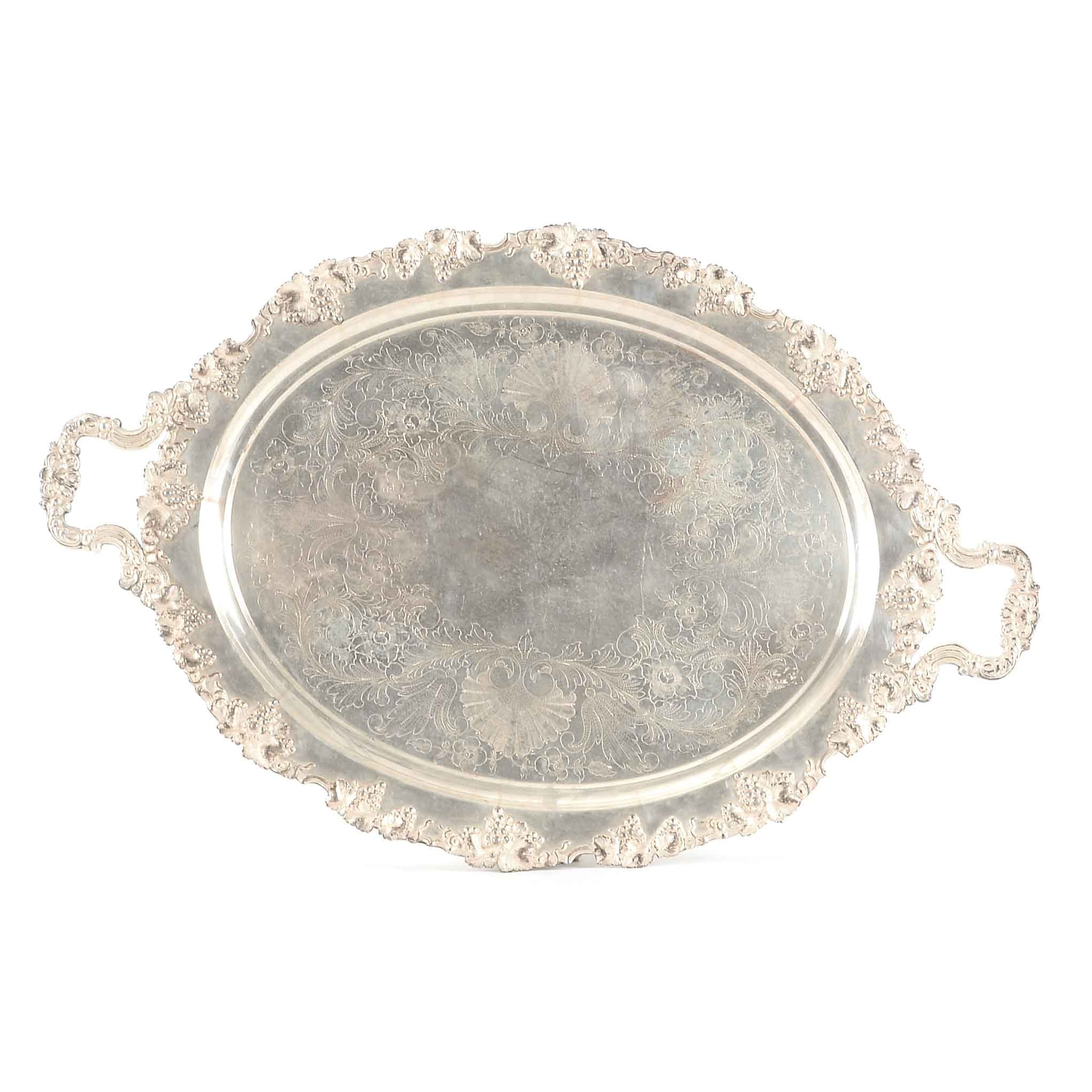 Barbour Silver Plate Co. Footed Tray