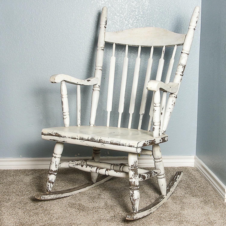 Vintage Windsor Style Rocking Chair