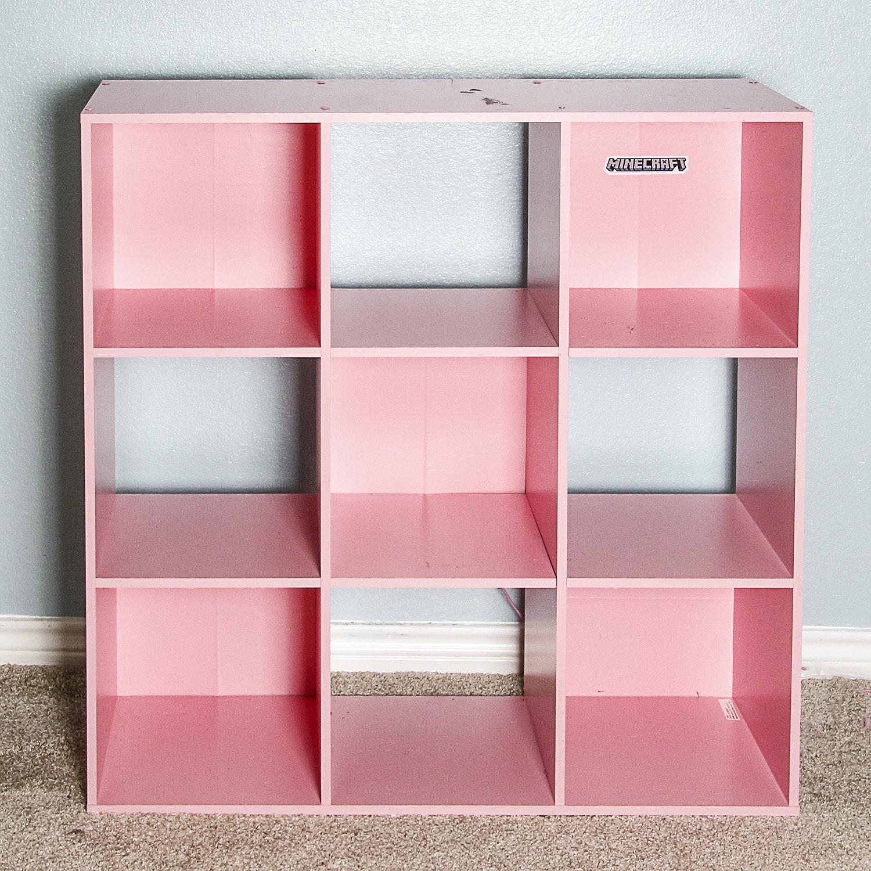 Pink Cube Storage Shelf
