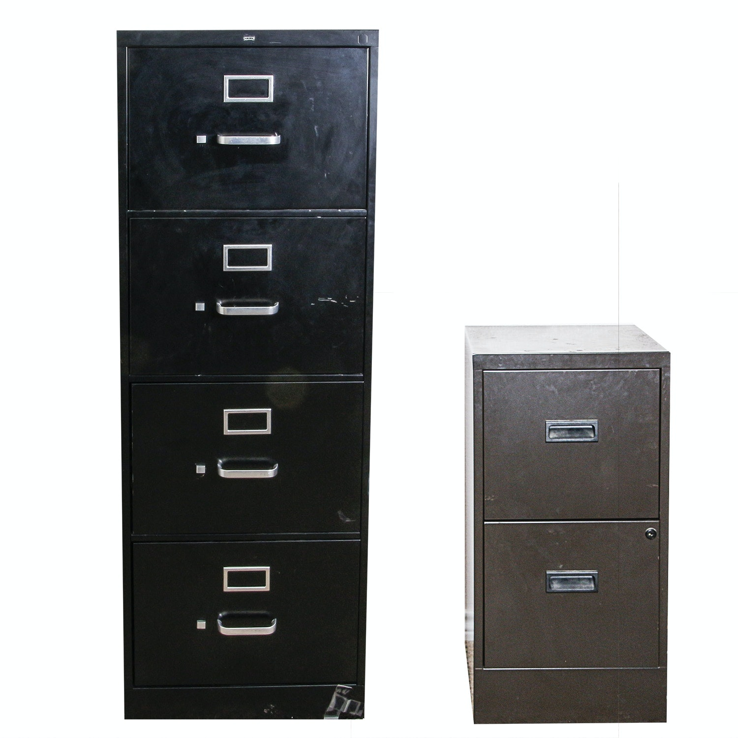 Pair of Metal Filing Cabinets