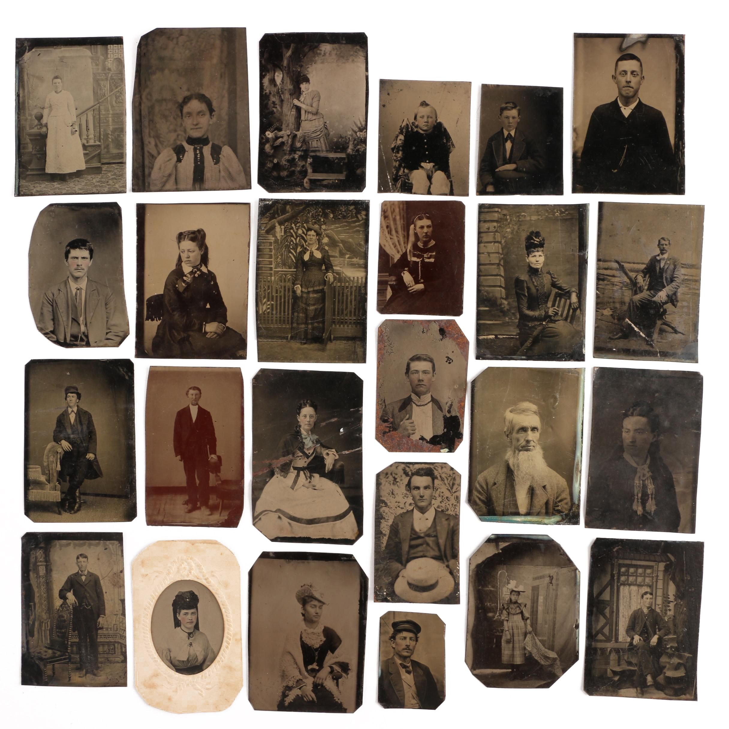 Collection of Tintype Photograph Portraits