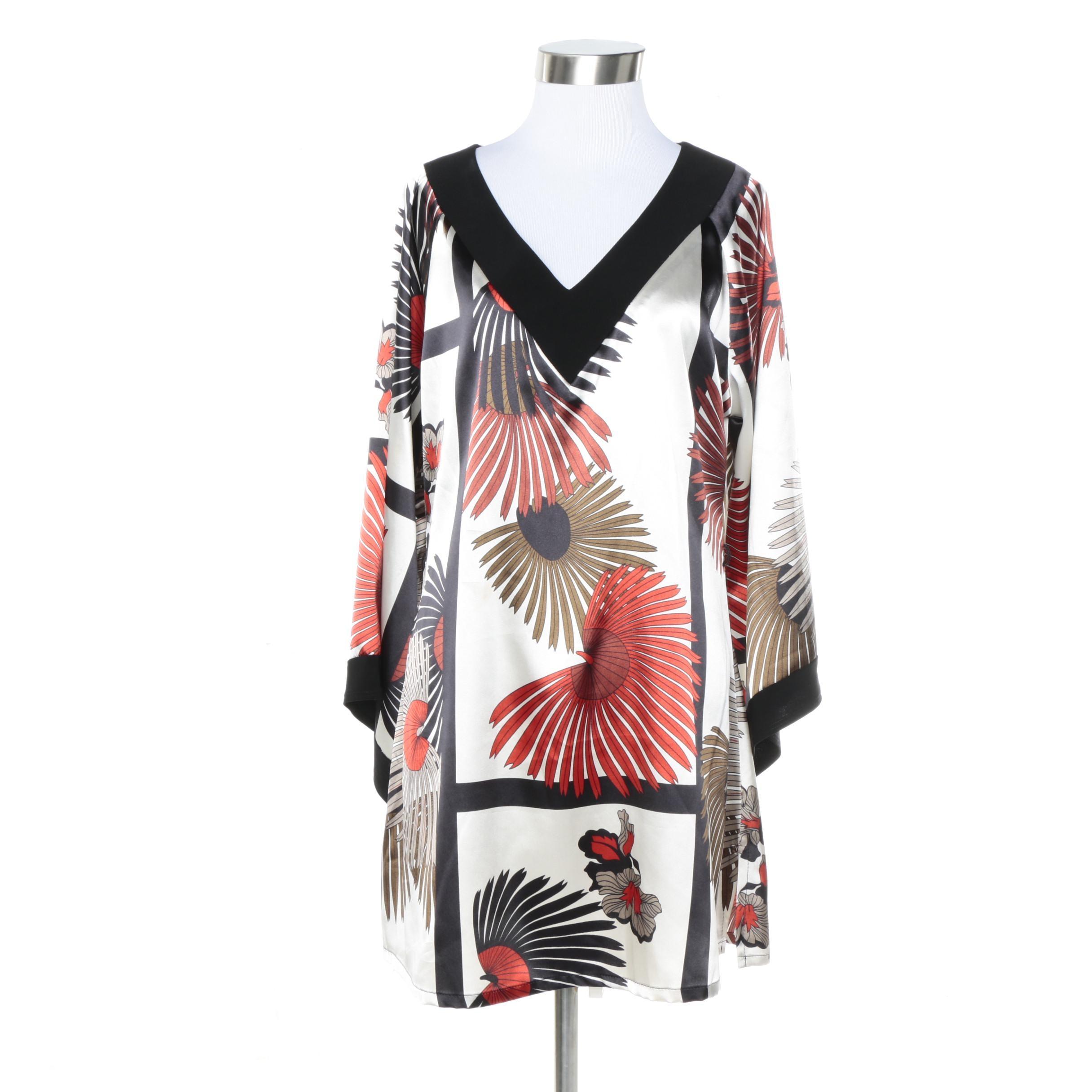 Midnight Velvet Floral Print Dress