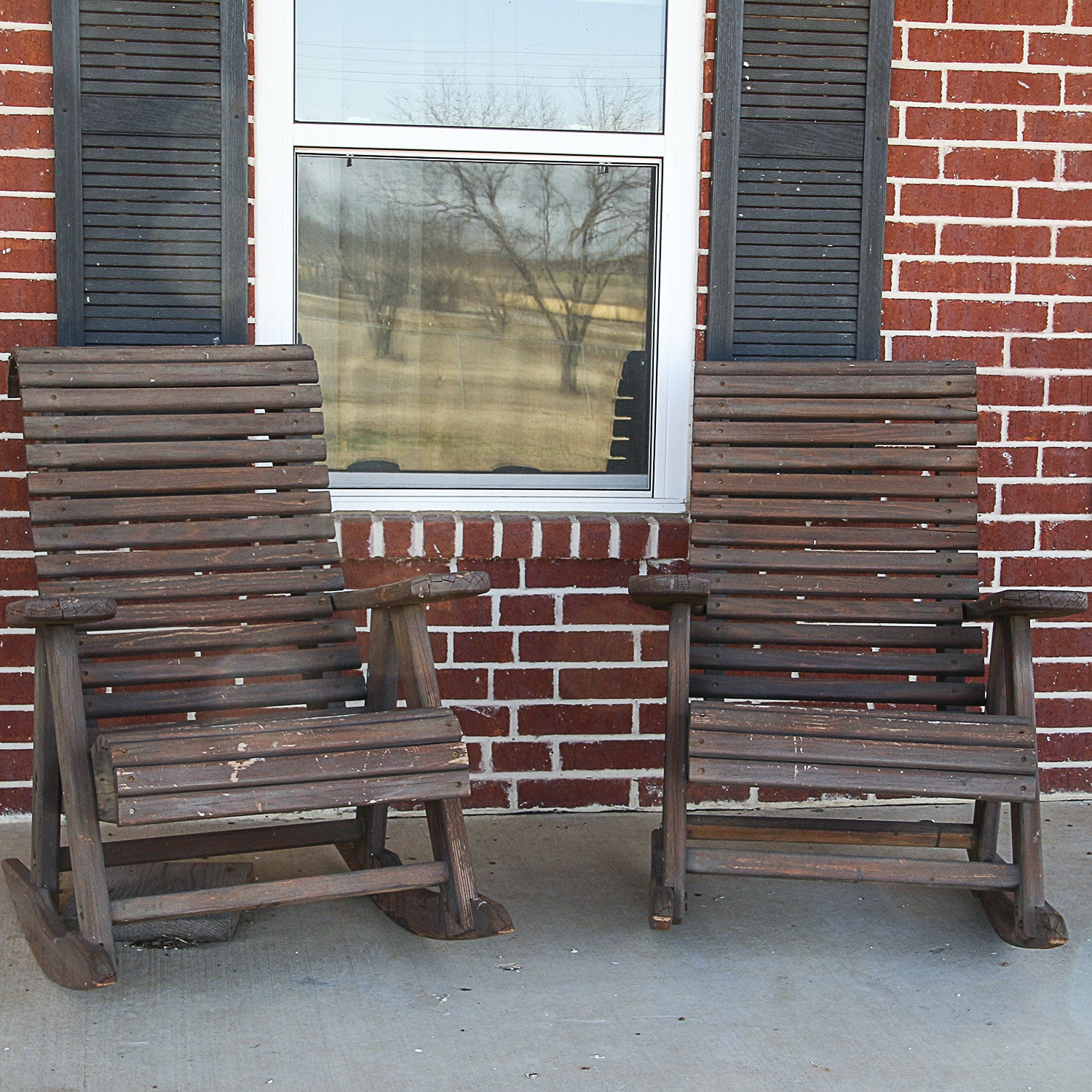 Pair of Outdoor Rocking Chairs