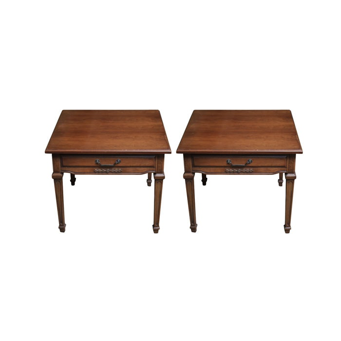 Pair of Hepplewhite Style Walnut End Tables