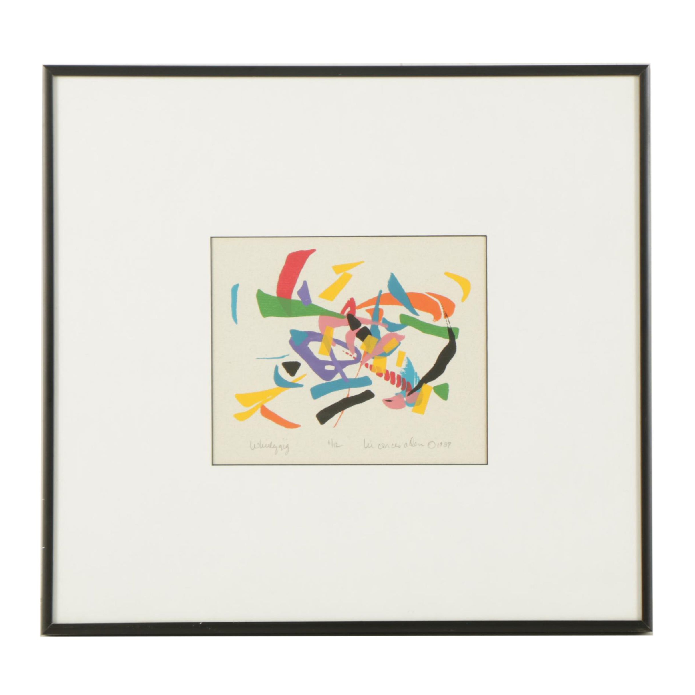 "Liz Conces Allen Limited Edition Serigraph ""Whirlygig"""