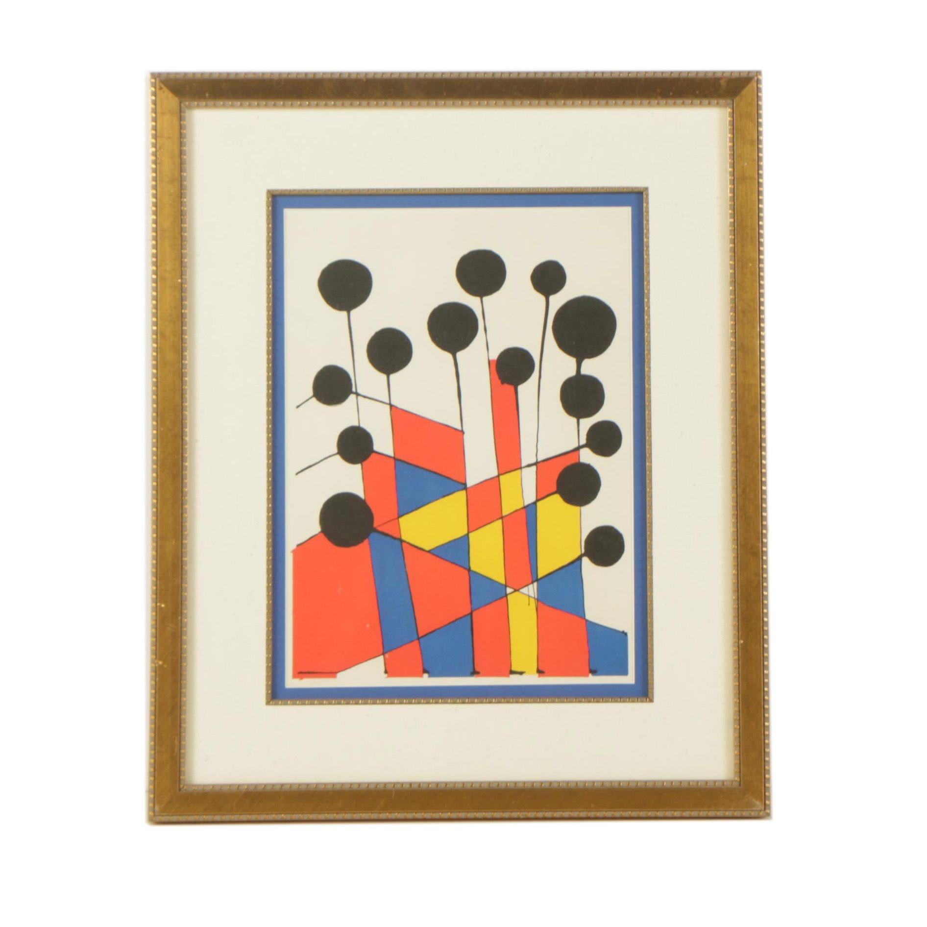 """Lithograph After Alexander Calder's """"Balloons"""""""