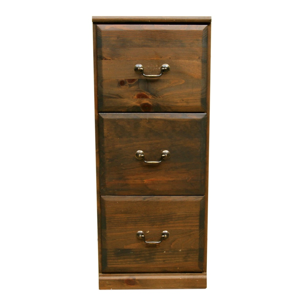 Yield House Wood Stained Filing Cabinet