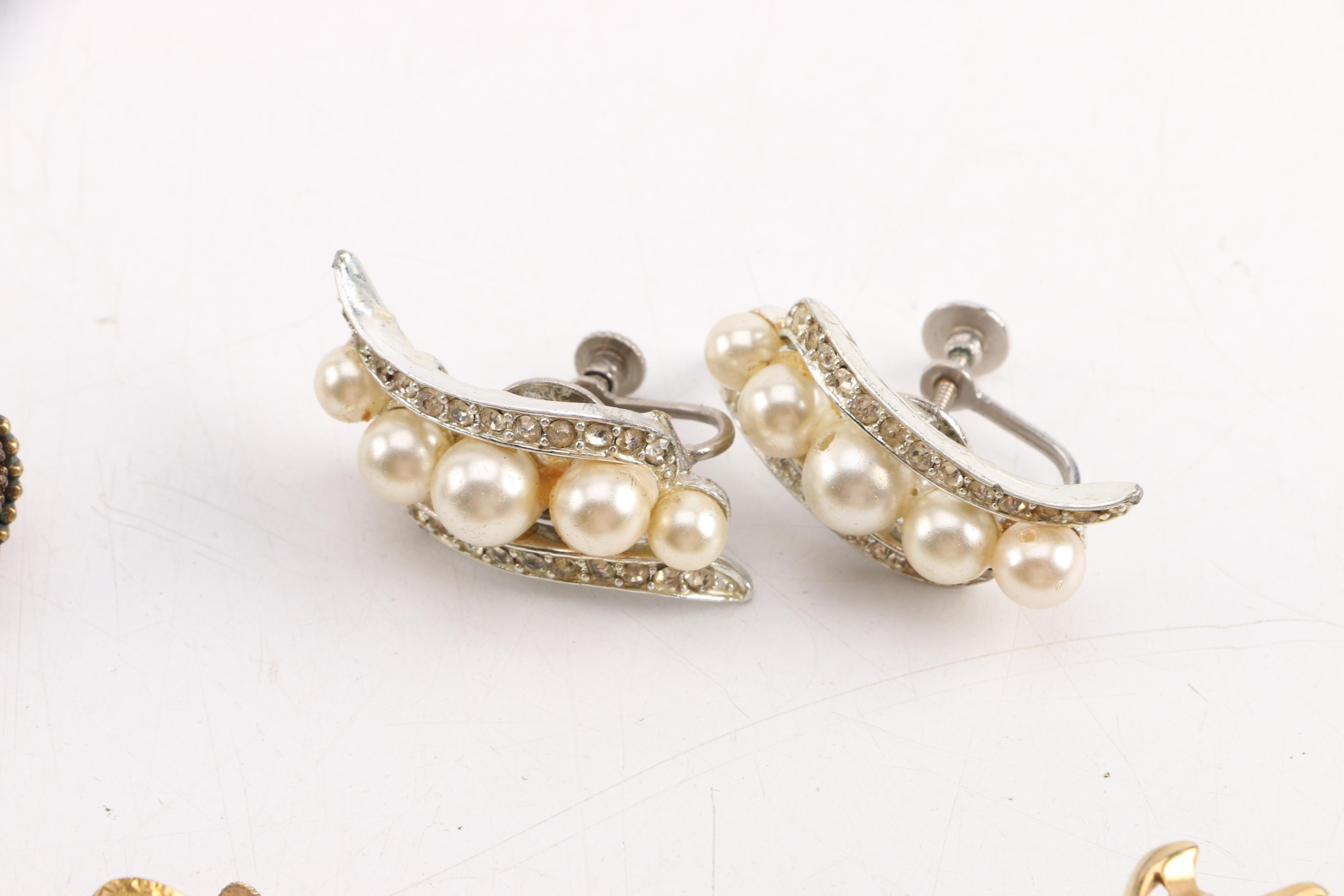 Vintage Earrings Including Coro Ebth