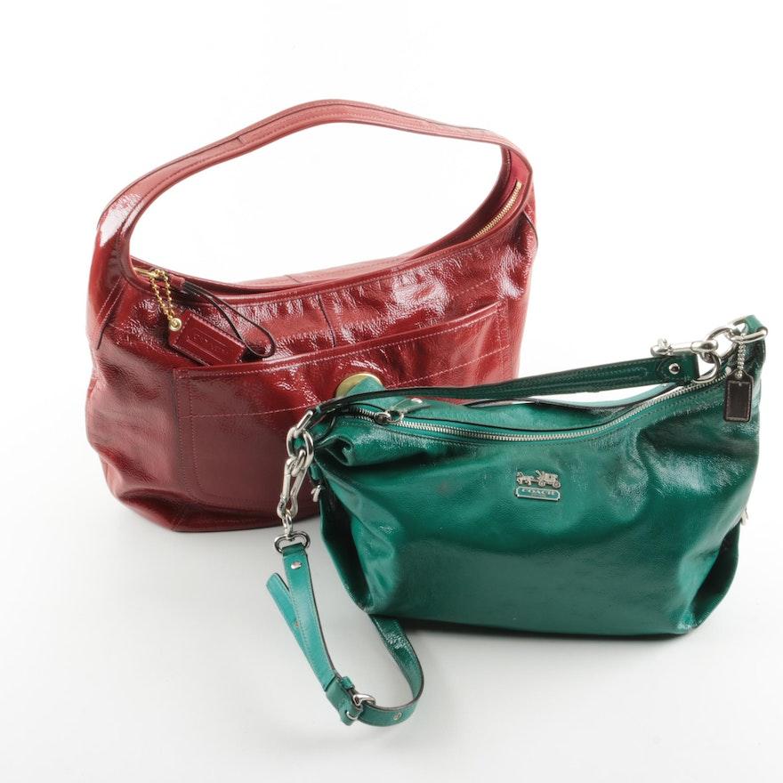 Coach Glazed Leather Hobo Handbags   EBTH 5807be823d