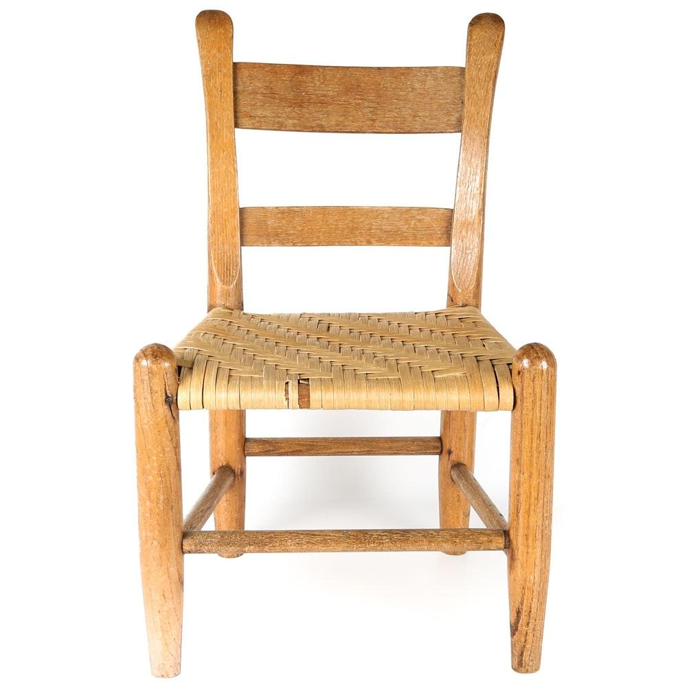 Beau Primitive Oak Childu0027s Chair