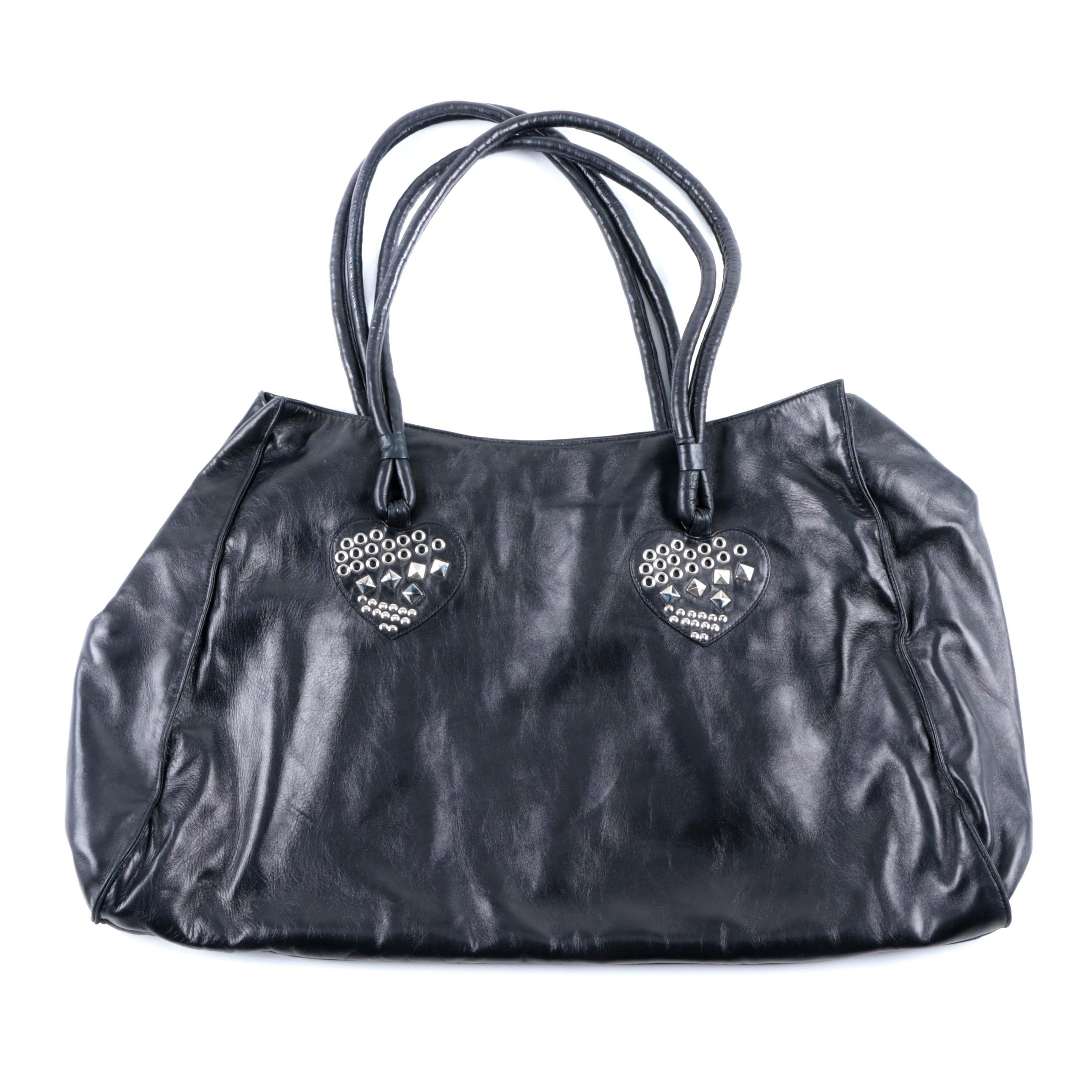 Maud Frizon Black Leather Baguette