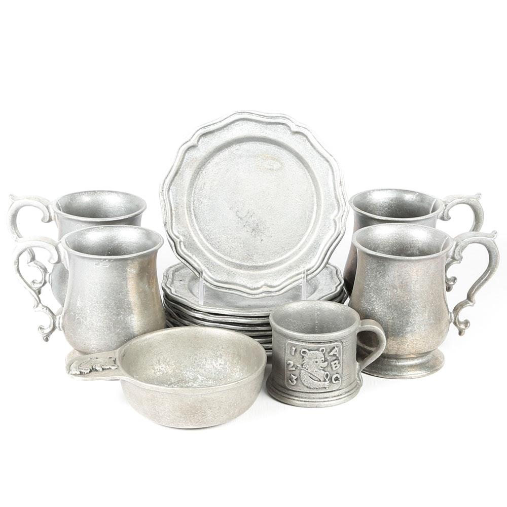 Pewter Finished Tableware