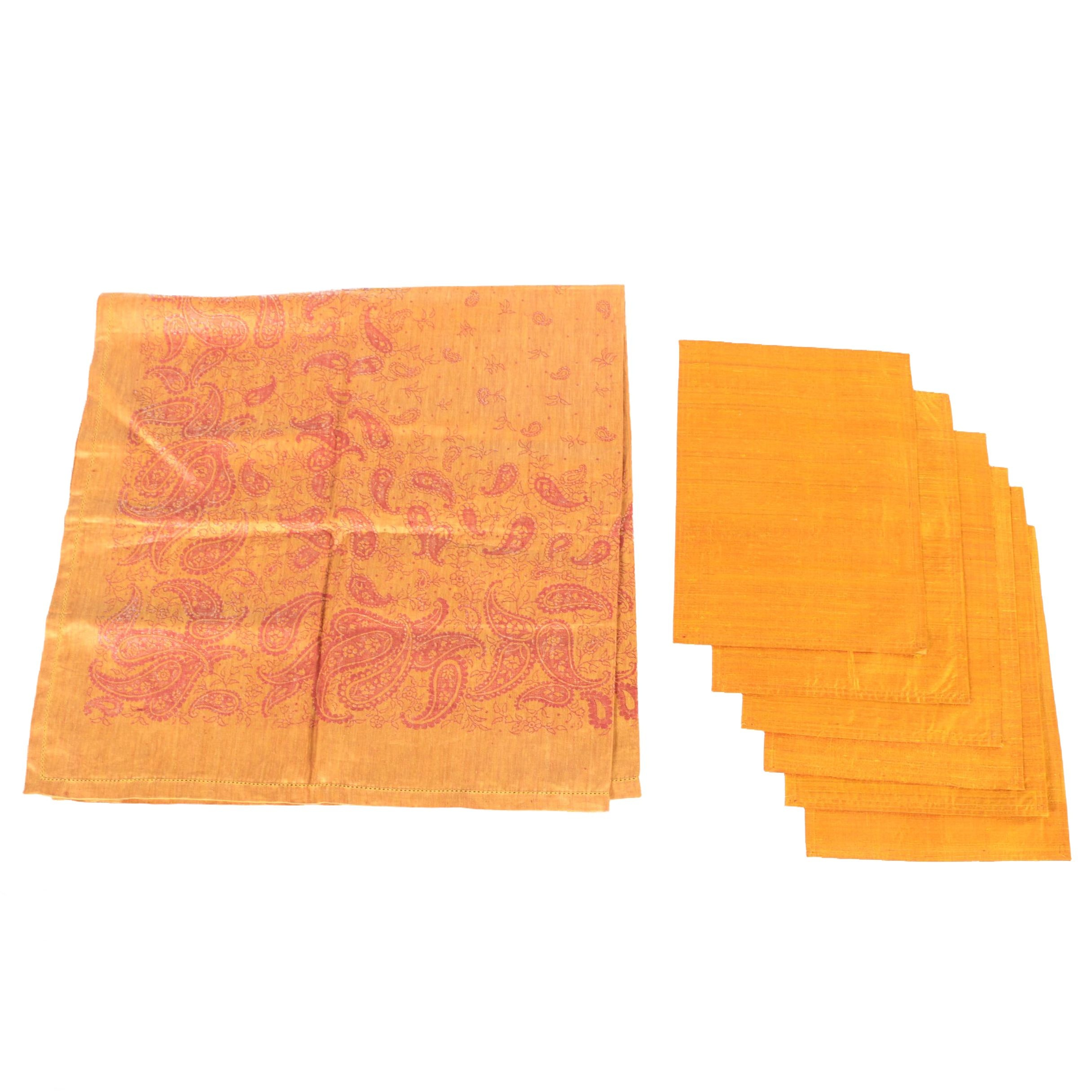 Paisley Tablecloth and Coordinating Napkins
