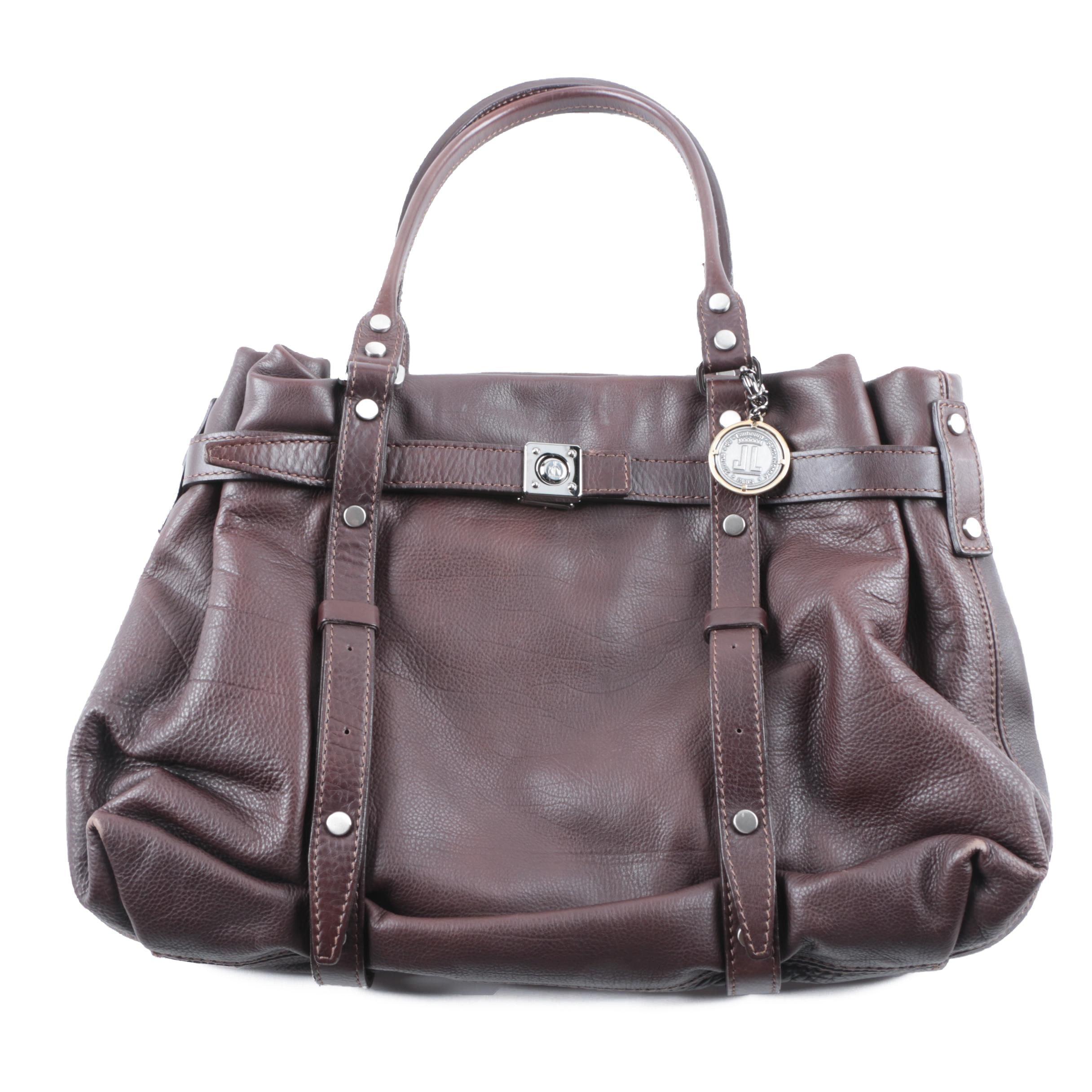 Lanvin of Paris Brown Leather Kansas Tote