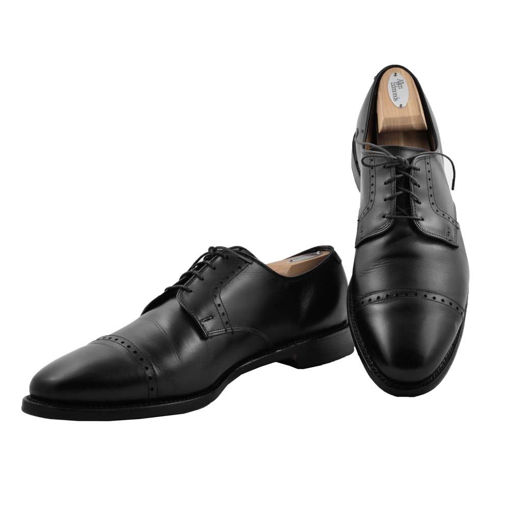 """Men's Allen Edmonds """"Clifton"""" Black Leather Bluchers"""