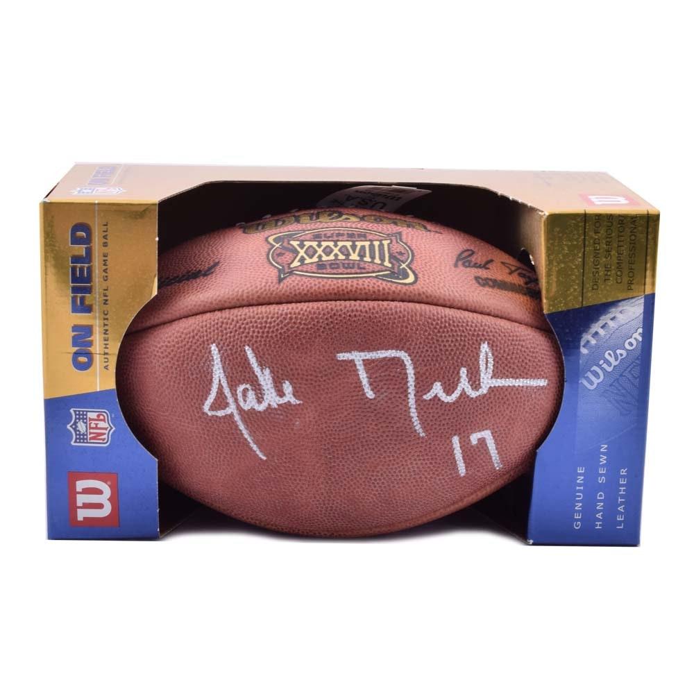 Jake Delhomme Super Bowl XXXVIII Autographed Football