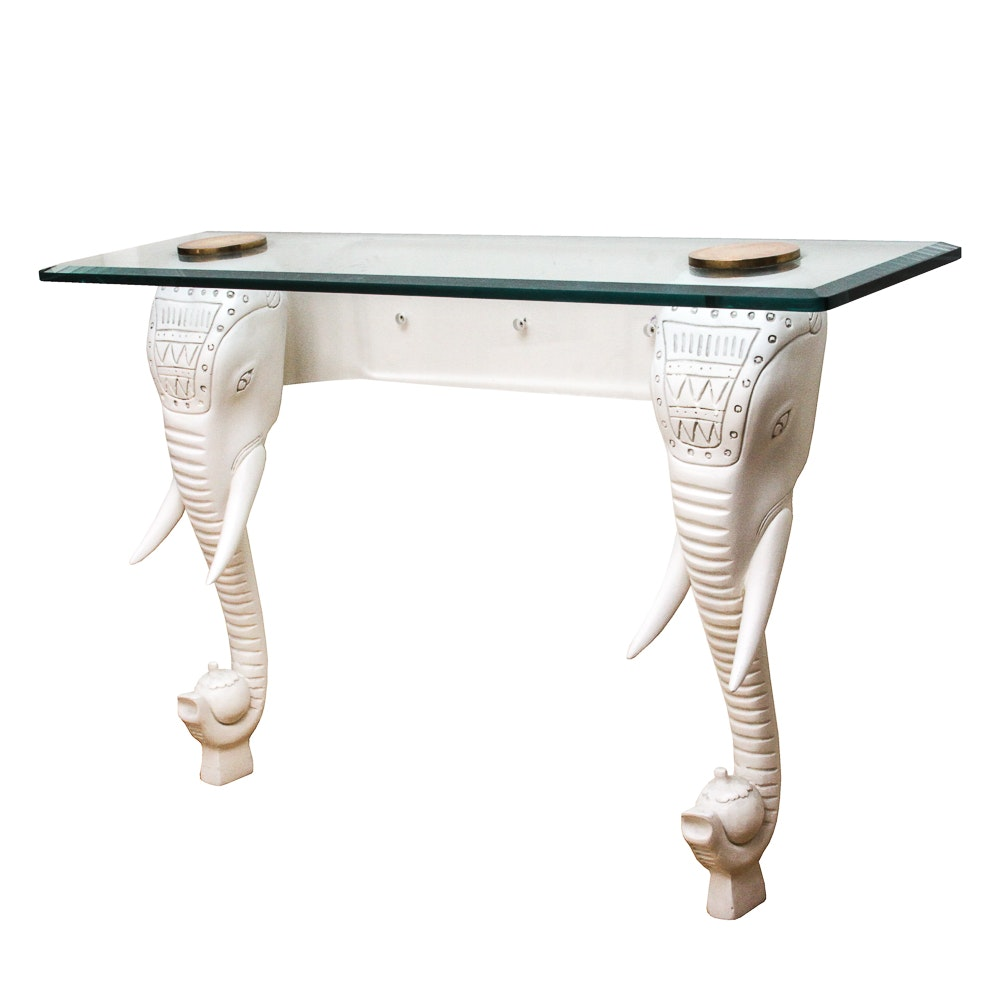 Wall Mounted Elephant Console Table from the Bucci Bartholo Collection