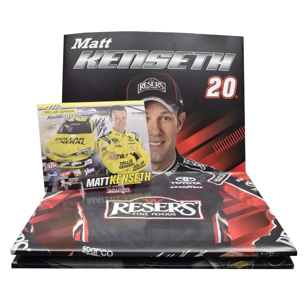 Matt Kenseth Autographed Photo and Reser's Food Display