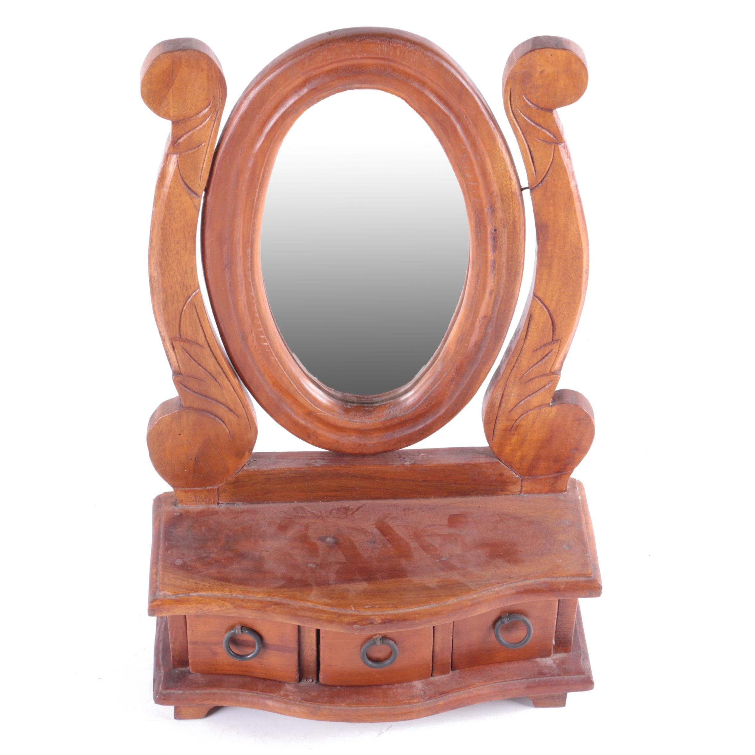Dresser Top Vanity Mirror Set