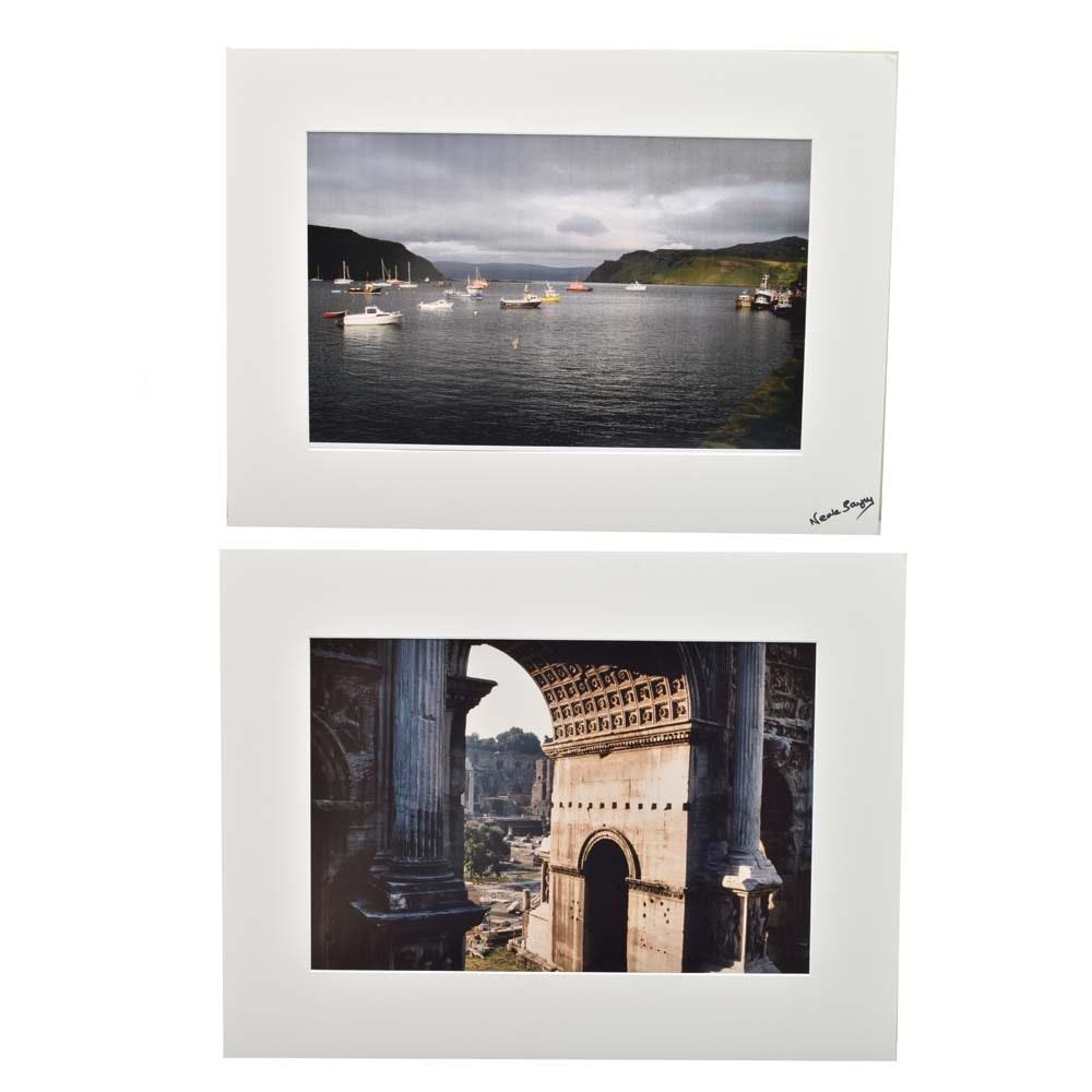 "Neale Bayly Original Un-Cut Photographs ""Mediterranean Harbor Fleet"""