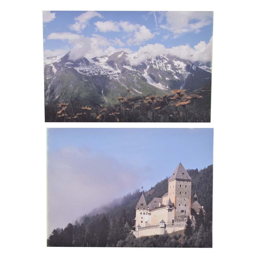 "Neale Bayly Digital Un-Cut Photographs ""Alpine Meadow"", ""Morning Light Alpine"""
