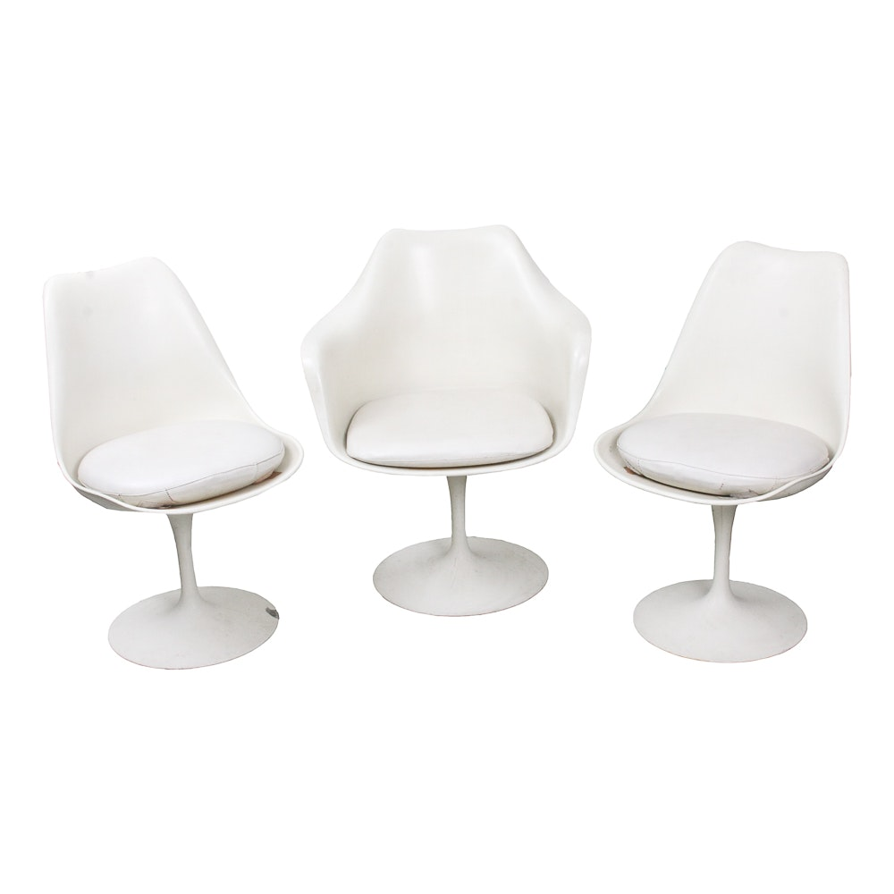 Three Mid Century Modern Tulip Chairs