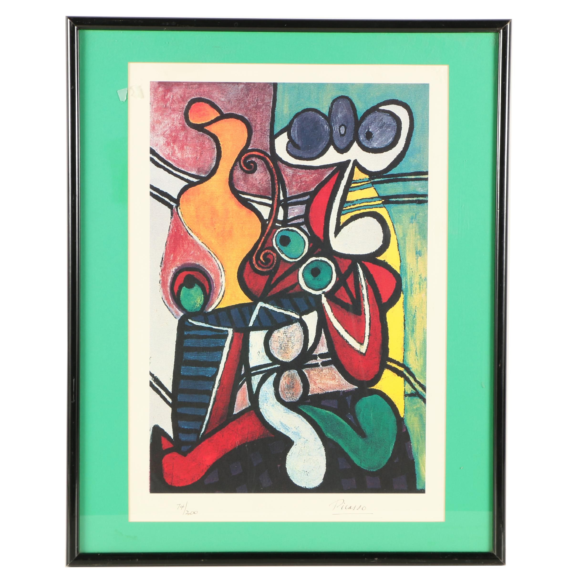 "Limited Edition Offset Lithograph After Pablo Picasso ""Nude and Still Life"""